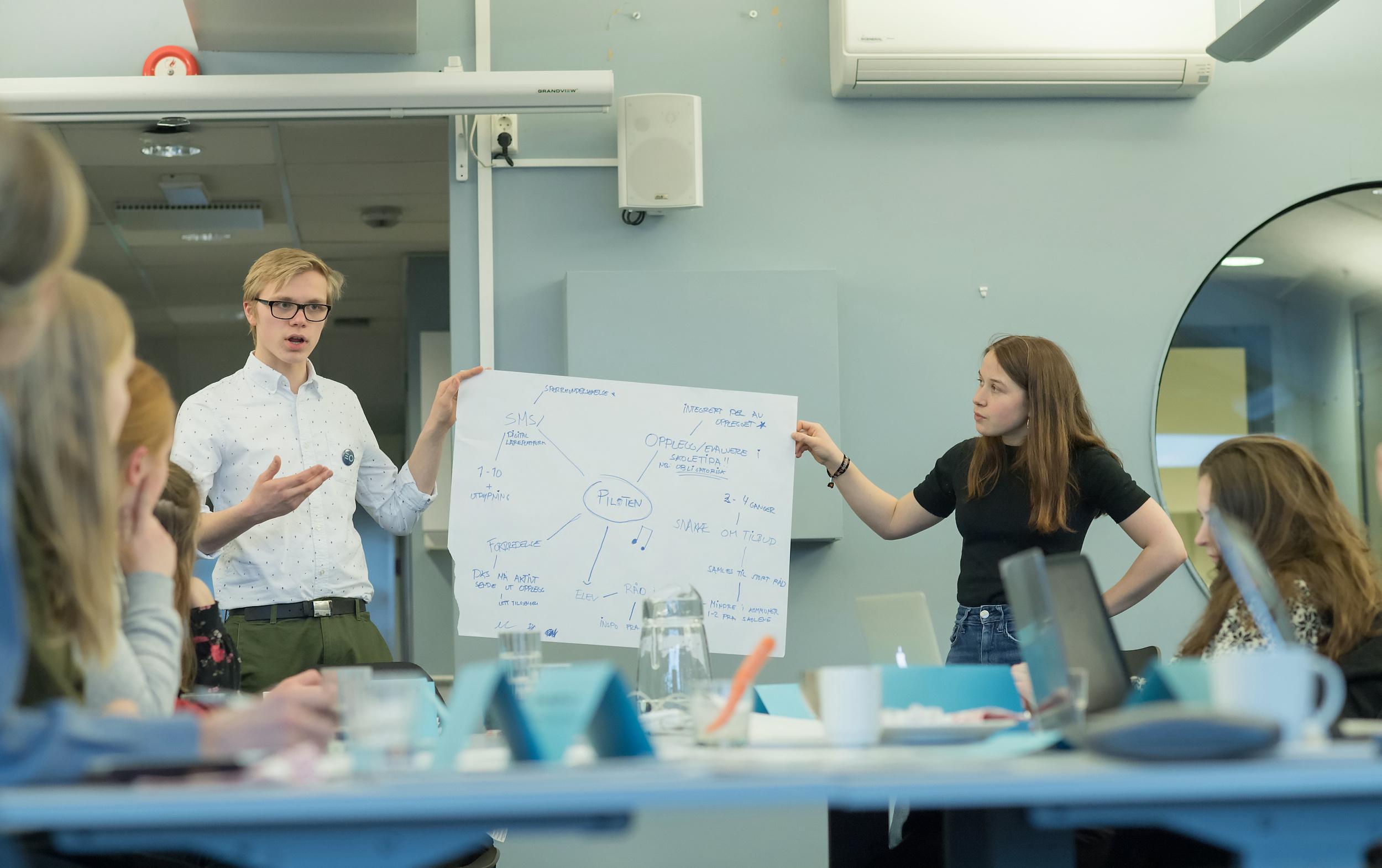 Kulturtankens ungdomsråd legger planer for pilotprosjekt om elevmedvirkning i DKS.