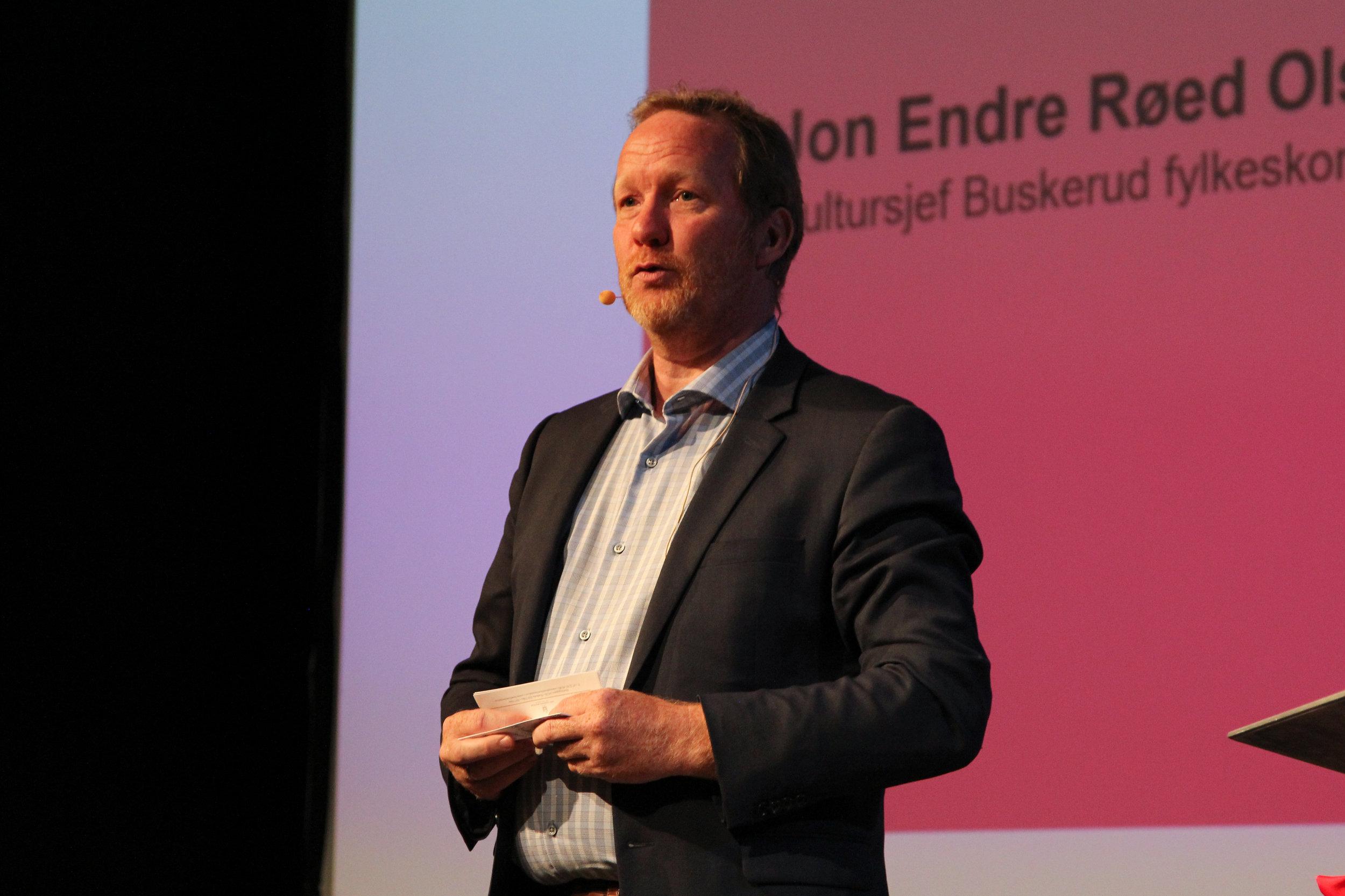 Jon Endre Røed Olsen, fylkeskultursjef i Buskerud