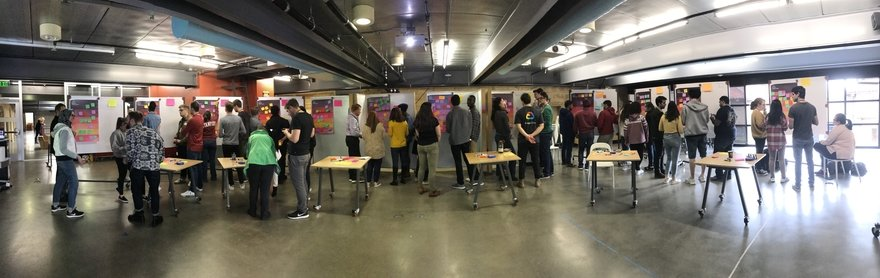 Groups Map the Problem Space during a Machine Learning workshop.