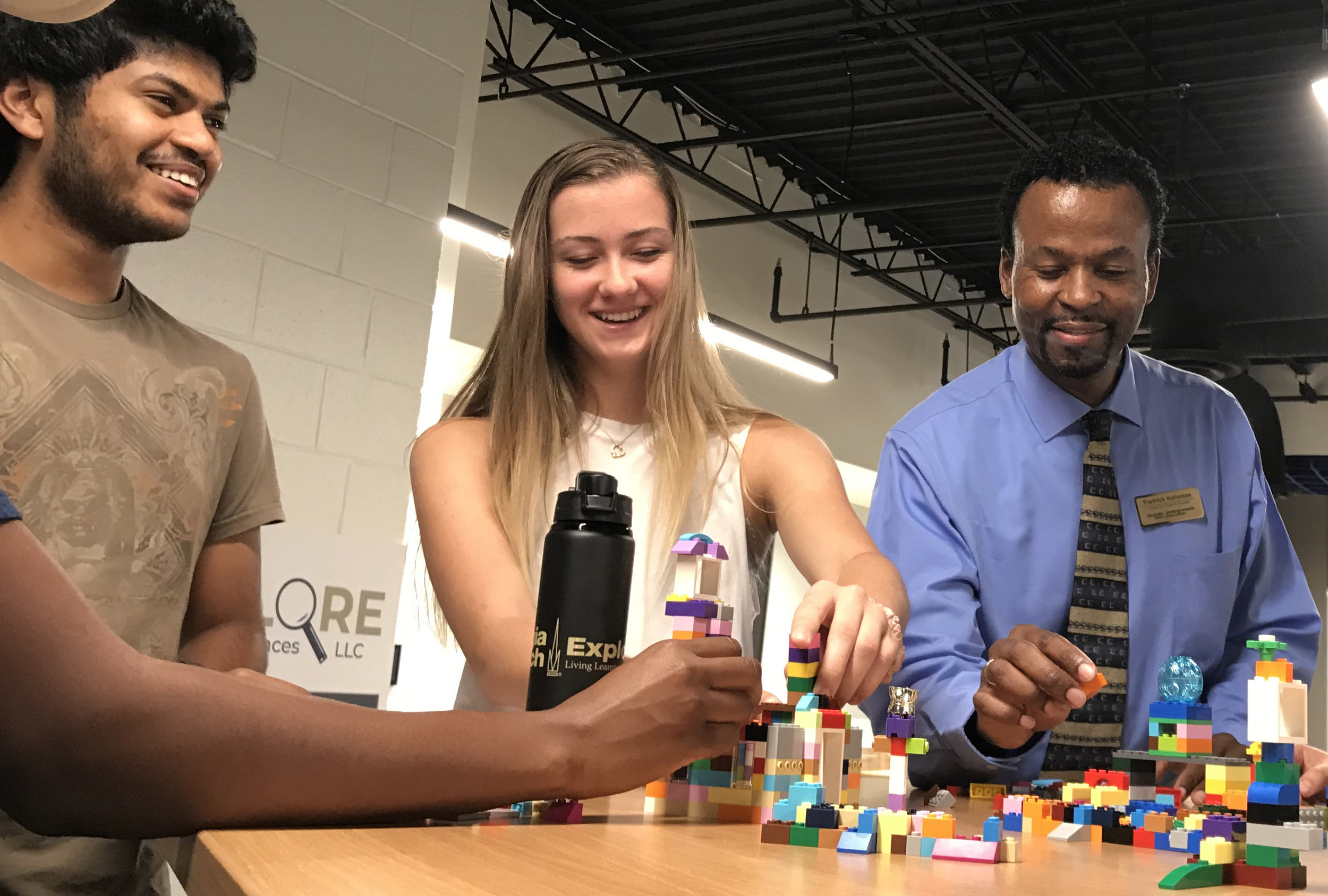 Living Learning Communities at Georgia Tech provide students with the space and curriculum to learn, live, and work together. Here, students and faculty building community through hands-on activities.