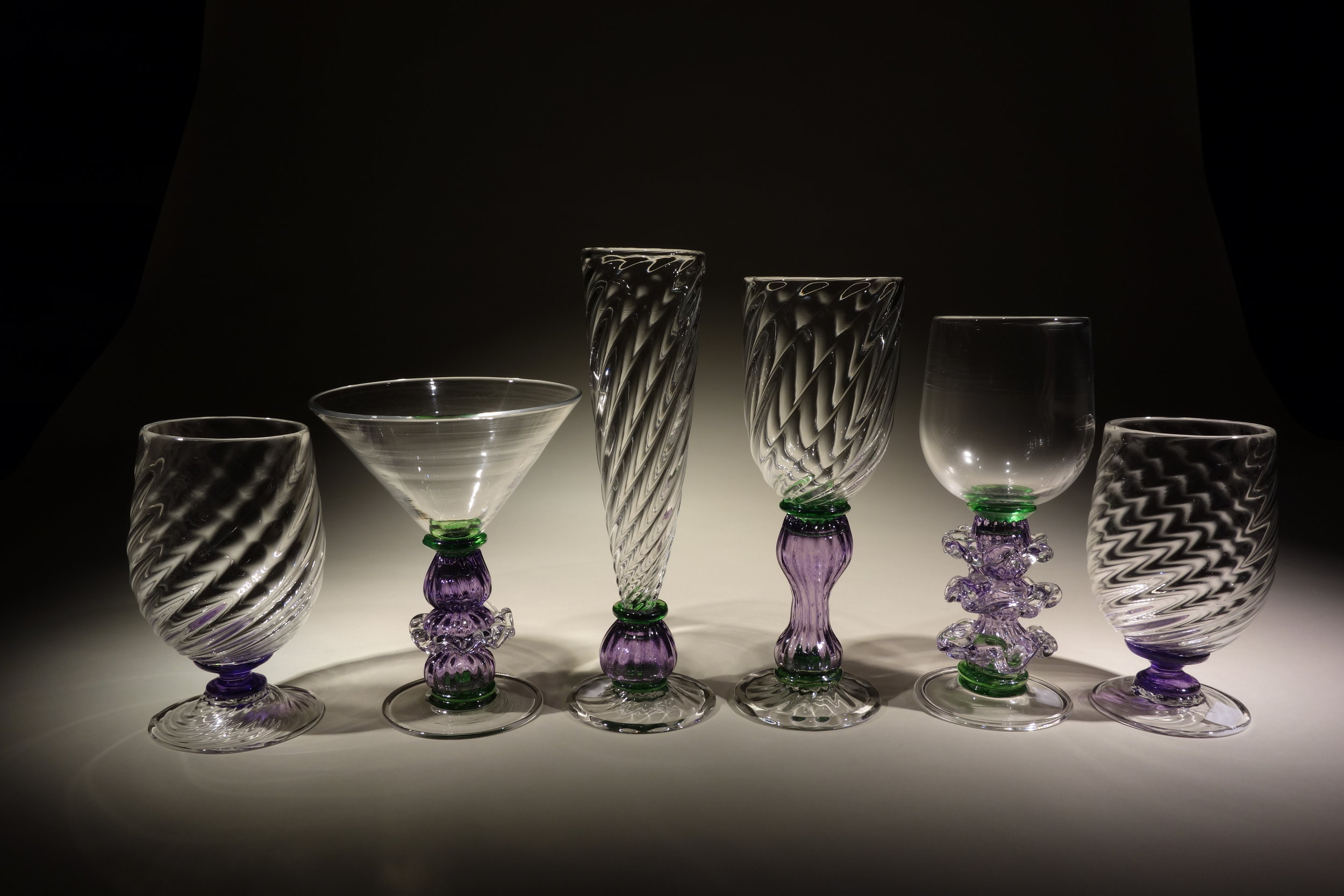 Purple and Green Goblets, Heath Brook Studio, 2016