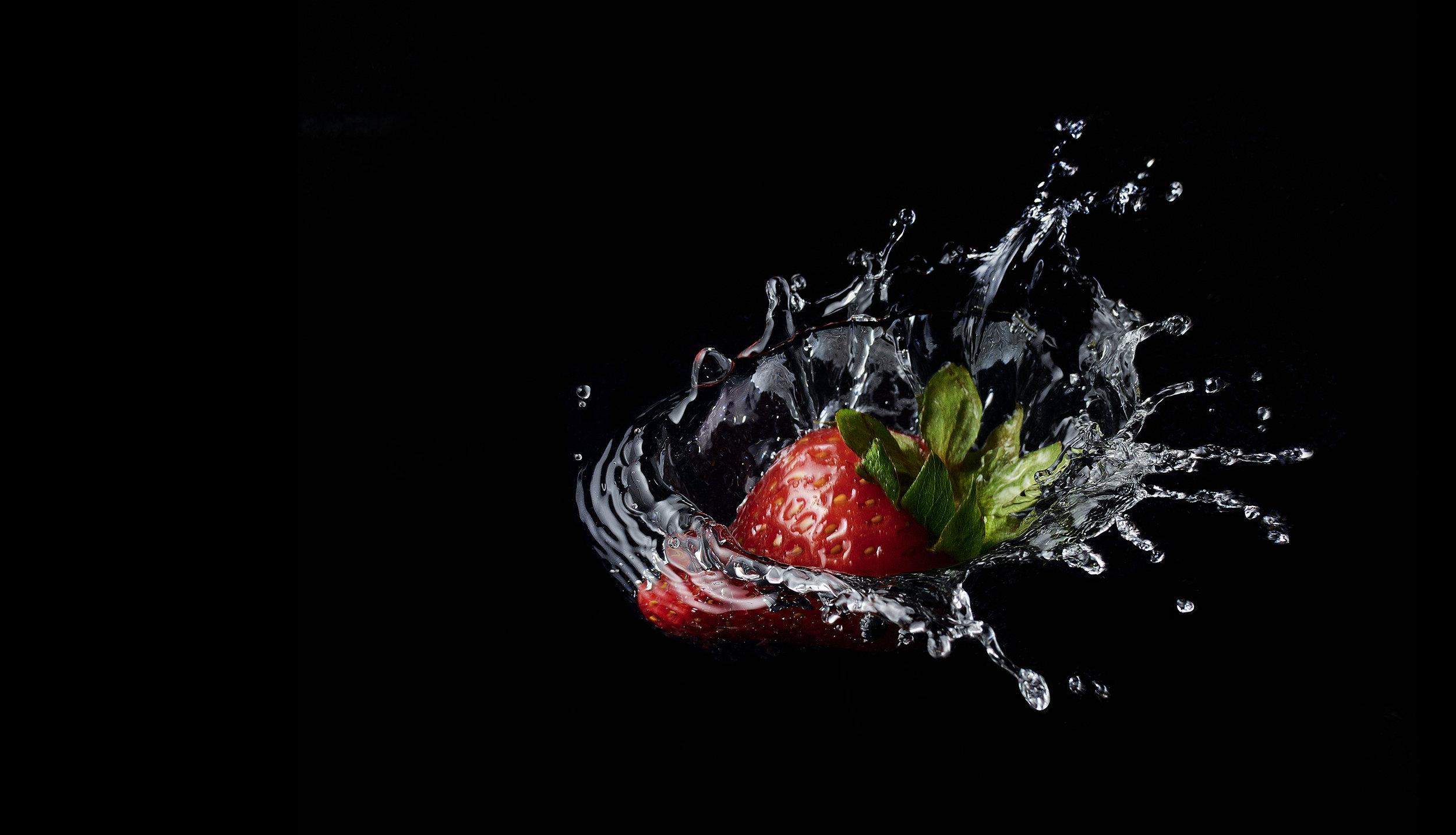 Strawberry Splash, Foodfotograf Zürich Schweiz