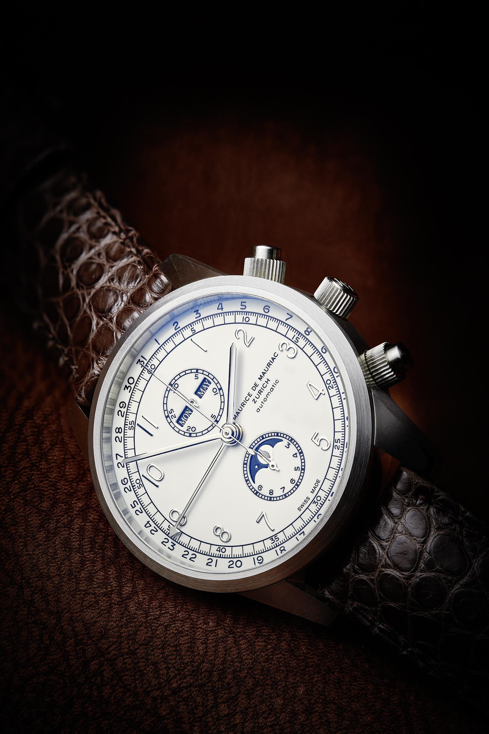 Mondphasenuhr, Maurice de Mauriac, Uhrenfotografie, Zürich, Schweiz