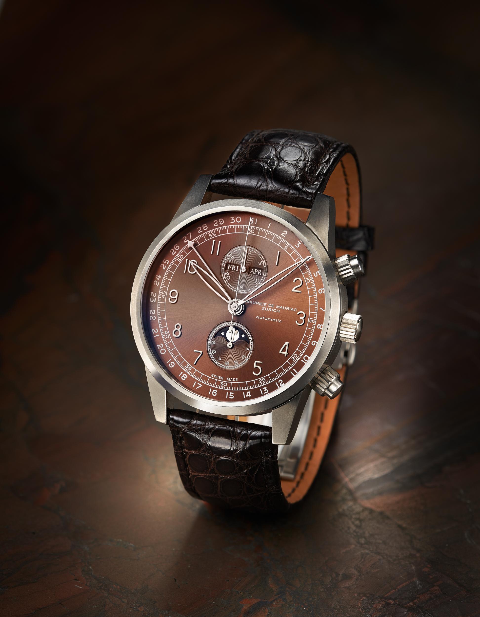 Uhrenfotografie Maurice de Mauriac Zürich, Mondphasen, Uhrenfotografie, Zürich, Schweizuhr