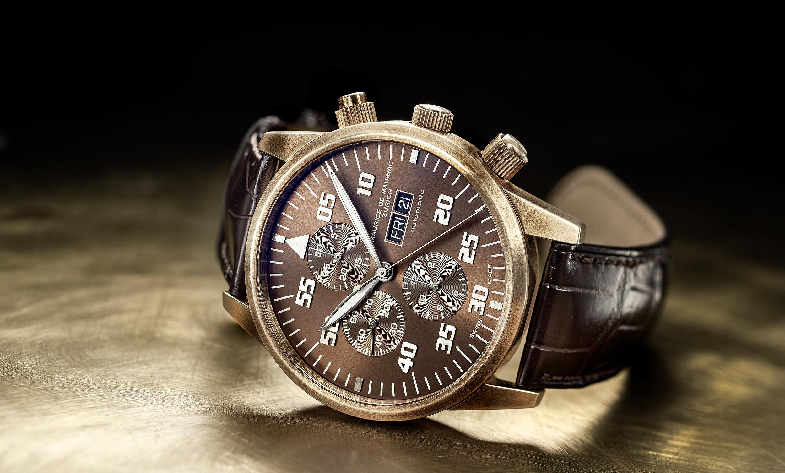 Maurice de Mauriac Bronze-Uhr, Uhrenfotografie, Zürich, Schweiz, Dennis Savini