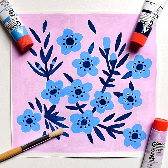 Thanks so much to everyone for all of the love for my tropical pattern post the other day, I was extremely overwhelmed by the response! 💛 This is a simple little painting from this morning inspired by Australian native wax flowers. It's a reworking of a screen print I designed during textile studies last year. I'm thinking of printing this as fabric again soon. #florals #floralpattern #printandpattern #floralpainting #textileart #botanicalart #botanicalartist #floraldecor #surfacepatterndesign #surfacepattern #waxflower #lilac