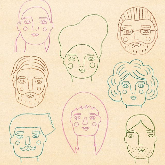 Some sketches from my journal this afternoon. They are a bit rough but it was so fun to just sit and doodle. I used prompts from @makeartthatsells drawing faces class to come up with lots of different faces, it was fun. Think I might go colour them in now!  #sketch #portraitdrawing #characterdrawing #faces #illustration #makeartthatsells #art #artistsoninstagram #lillasartrecipes
