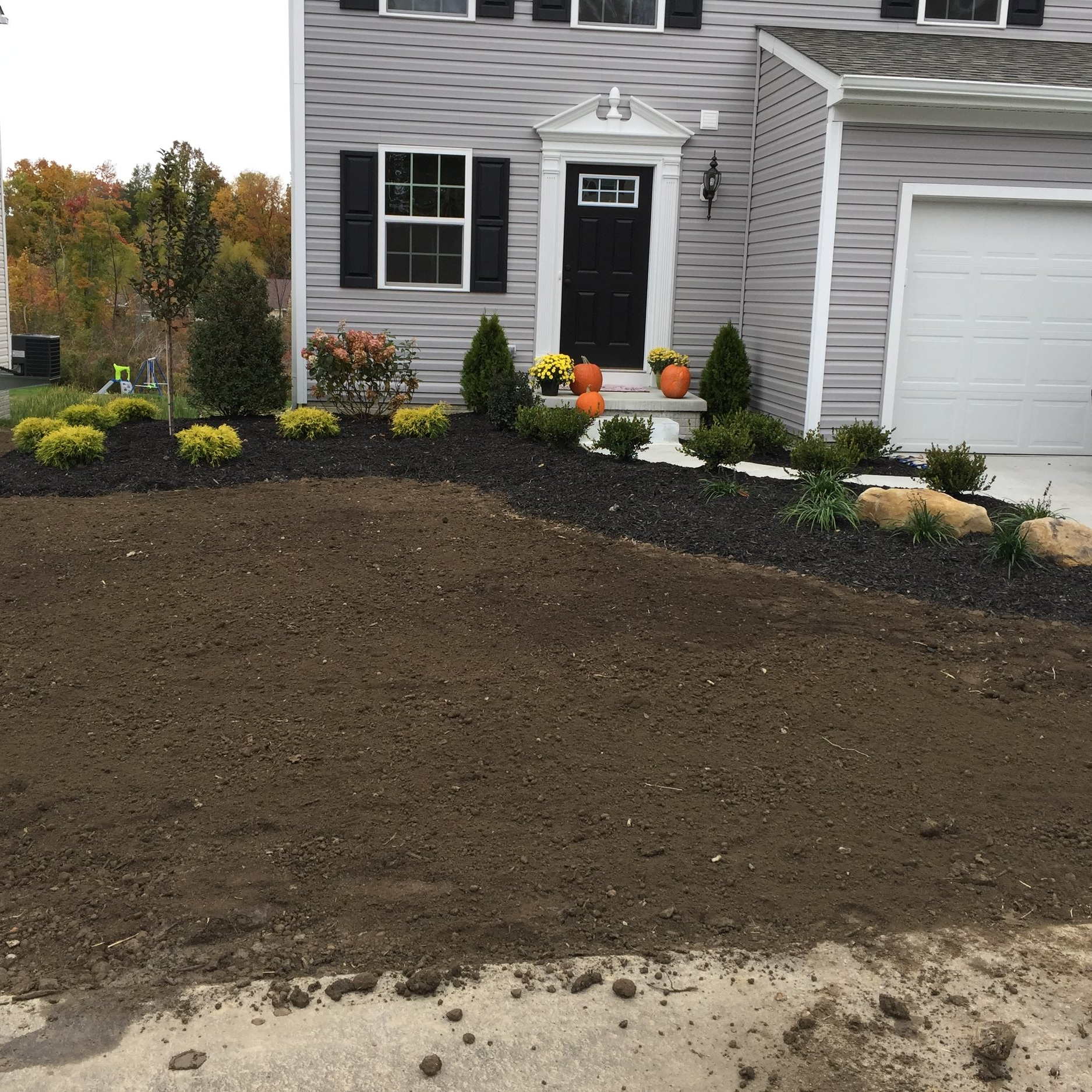 The layer of topsoil is complete!