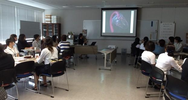 秋は県内で出前講座 Workshops for public health nurses in Fukushima
