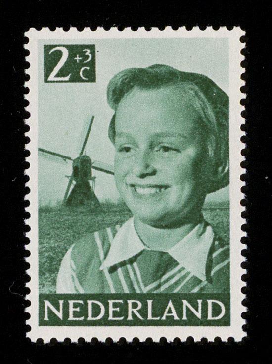 Children's postage stamp  (Kinderpostzegel)  by Cas Oorthuys 12 November 1951