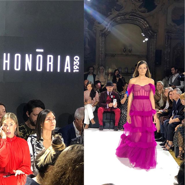 Sfilata Milano. #honoria #emergingartistsshow #palazzovisconti #milanfashionshow #prettyinpink #SS20 #letsgetdresseddc #yesshemay