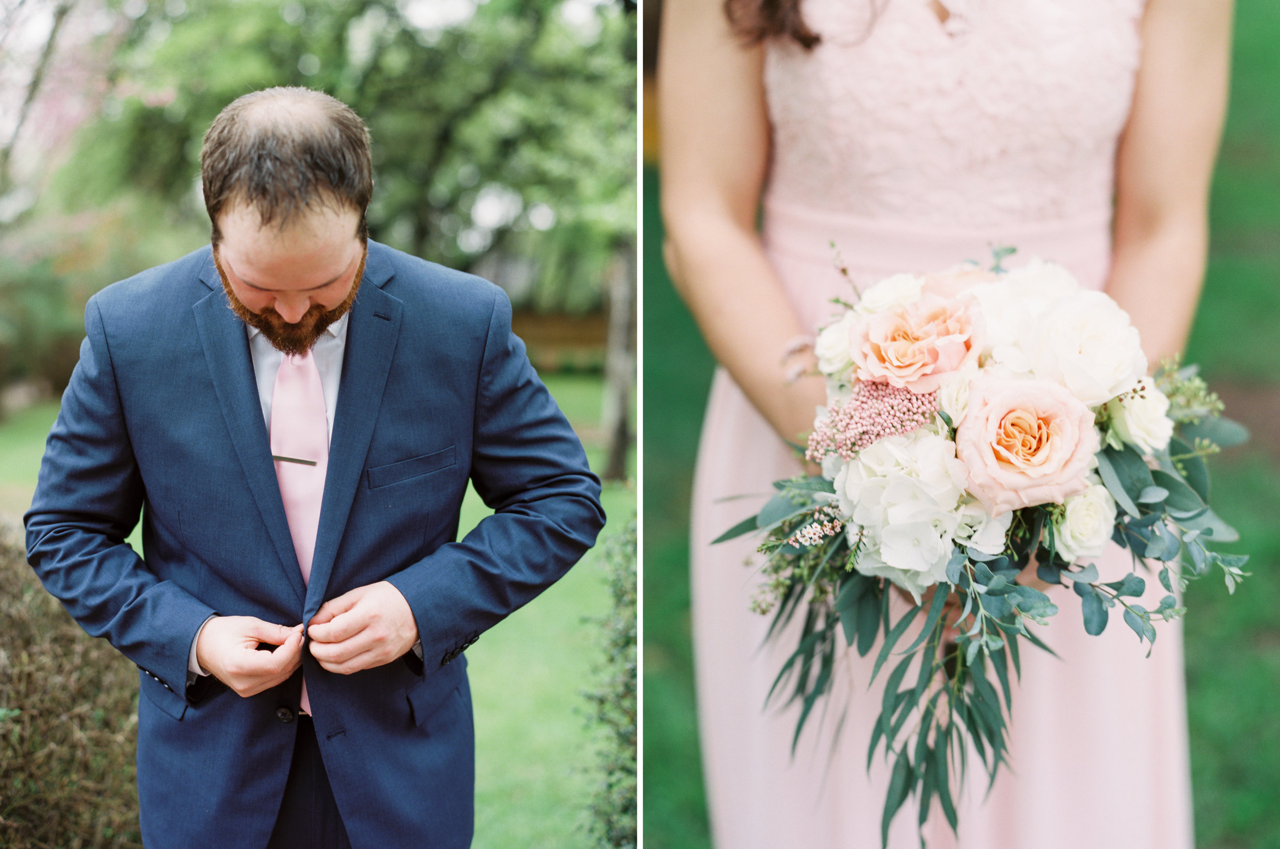 Hill Country Spring Wedding at Red Bud Hall | Austin Wedding Photographer | Film Wedding Photographer | Britni Dean Photography | Rainy Day Wedding Inspiration | blush and navy wedding inspiration