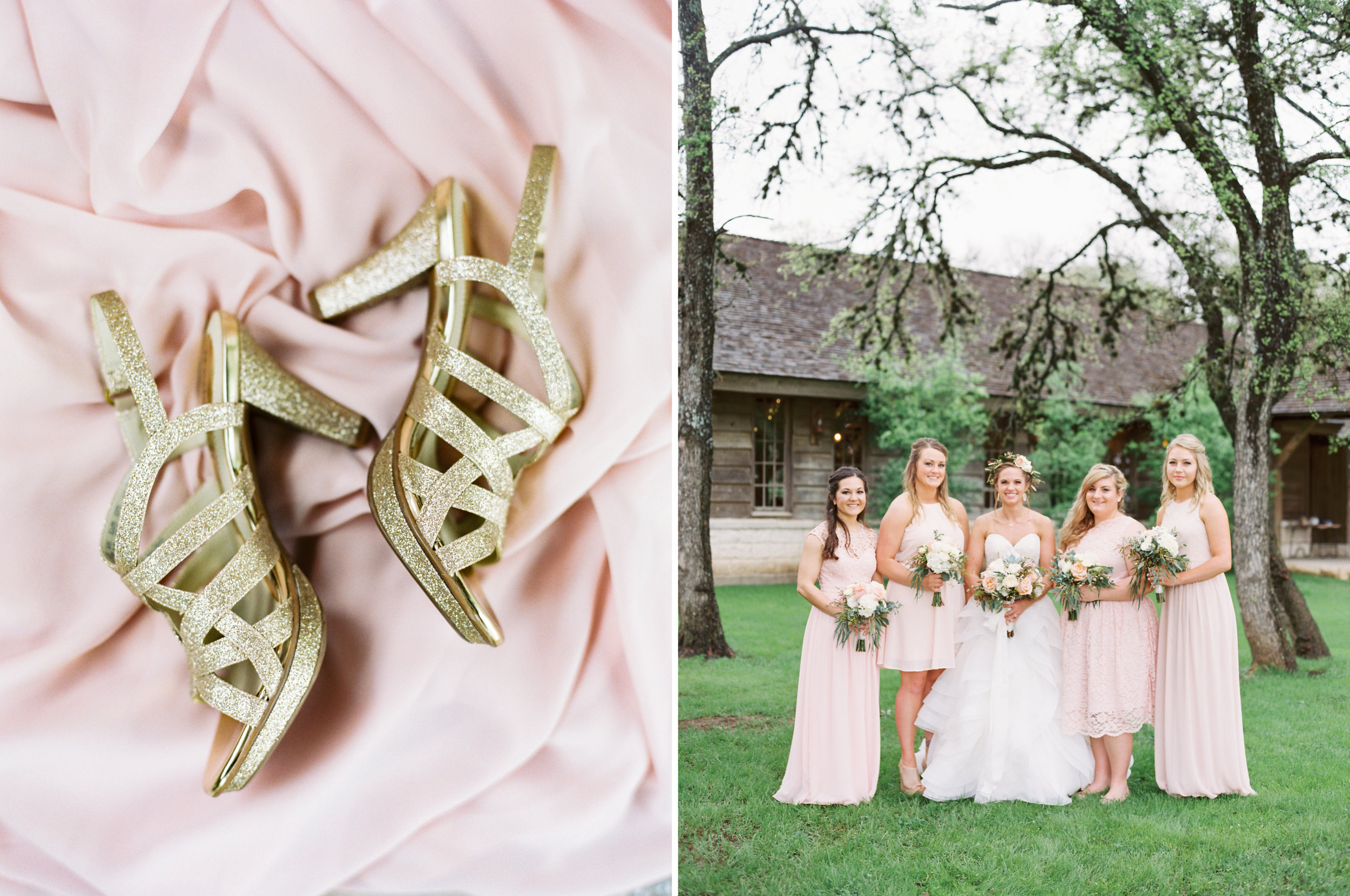 Hill Country Spring Wedding at Red Bud Hall | Austin Wedding Photographer | Film Wedding Photographer | Britni Dean Photography | Rainy Day Wedding Inspiration | blush bridesmaid dresses