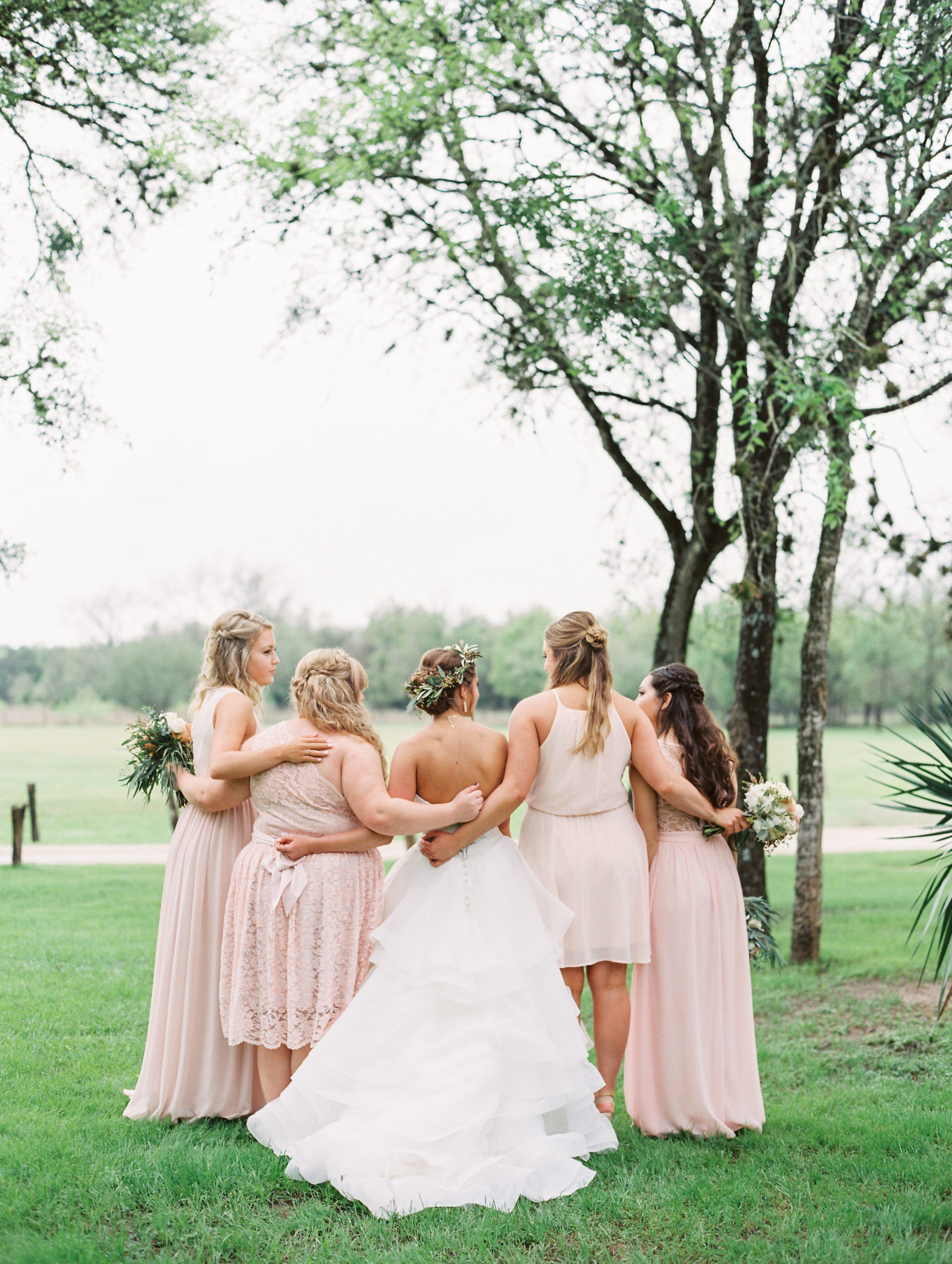 Hill Country Spring Wedding at Red Bud Hall | Austin Wedding Photographer | Film Wedding Photographer | Britni Dean Photography | Rainy Day Wedding Inspiration | blush bridesmaids