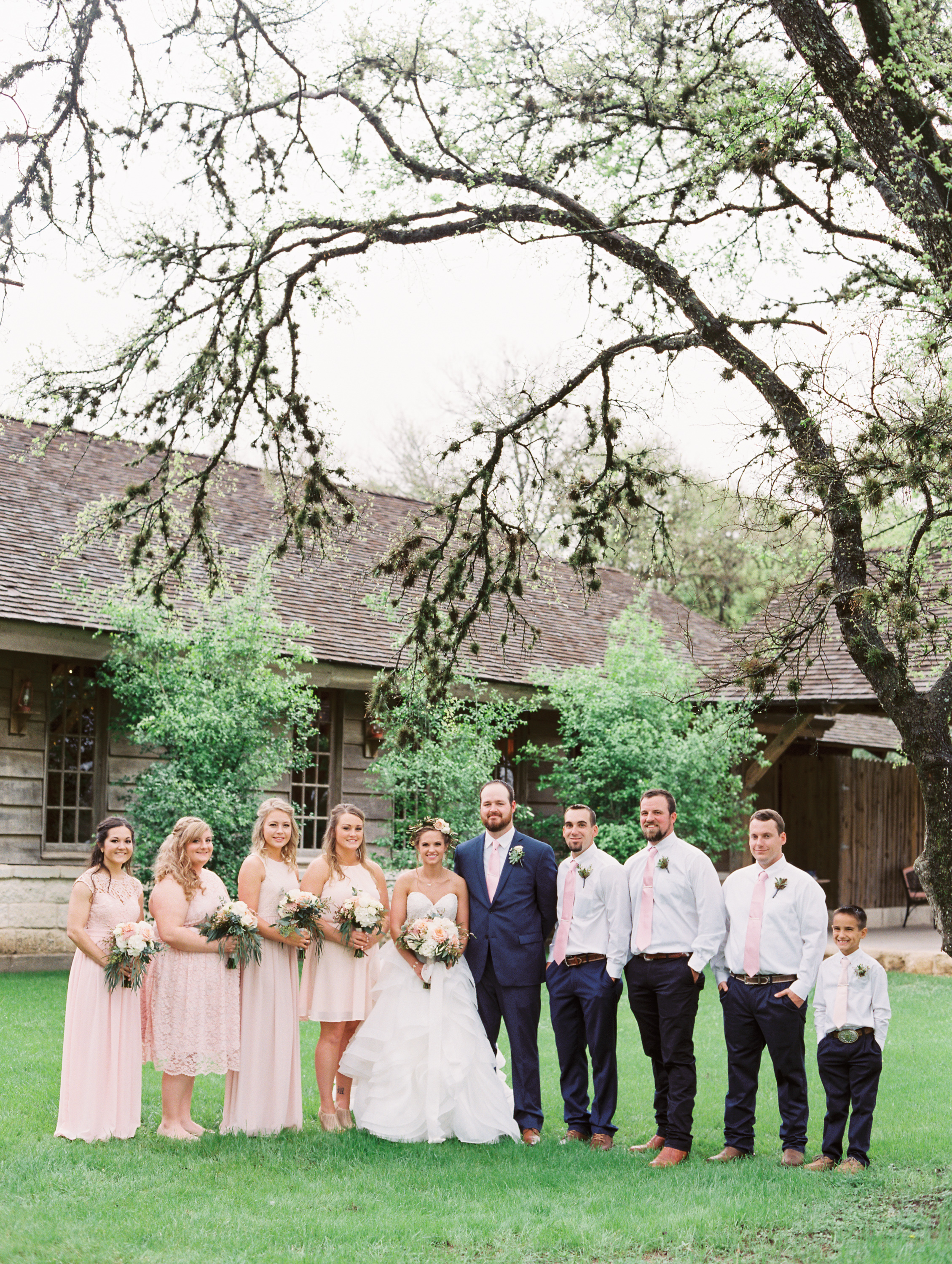 Hill Country Spring Wedding at Red Bud Hall | Austin Wedding Photographer | Film Wedding Photographer | Britni Dean Photography | Rainy Day Wedding Inspiration | blush and navy wedding