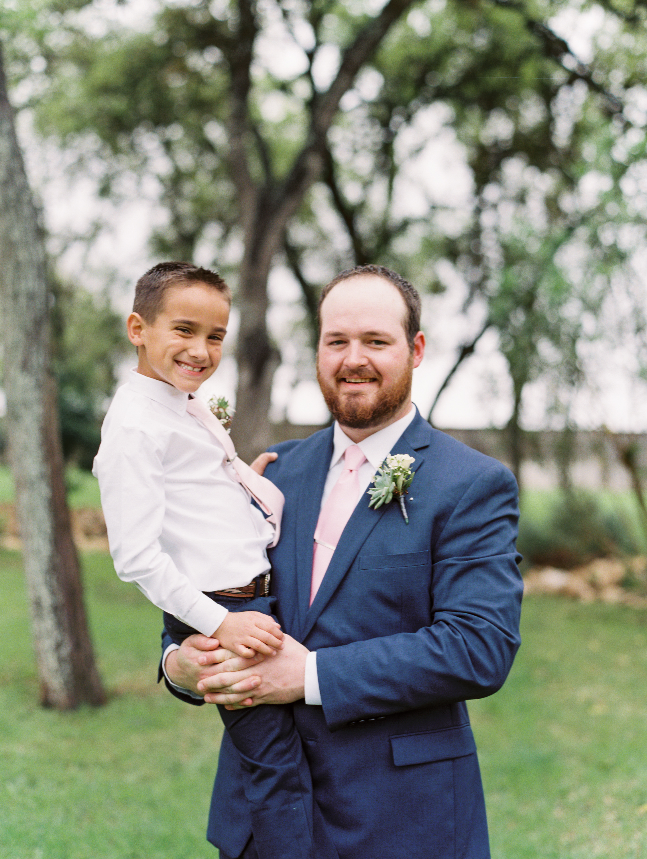 Hill Country Spring Wedding at Red Bud Hall | Austin Wedding Photographer | Film Wedding Photographer | Britni Dean Photography | Rainy Day Wedding Inspiration | cute ring bearer