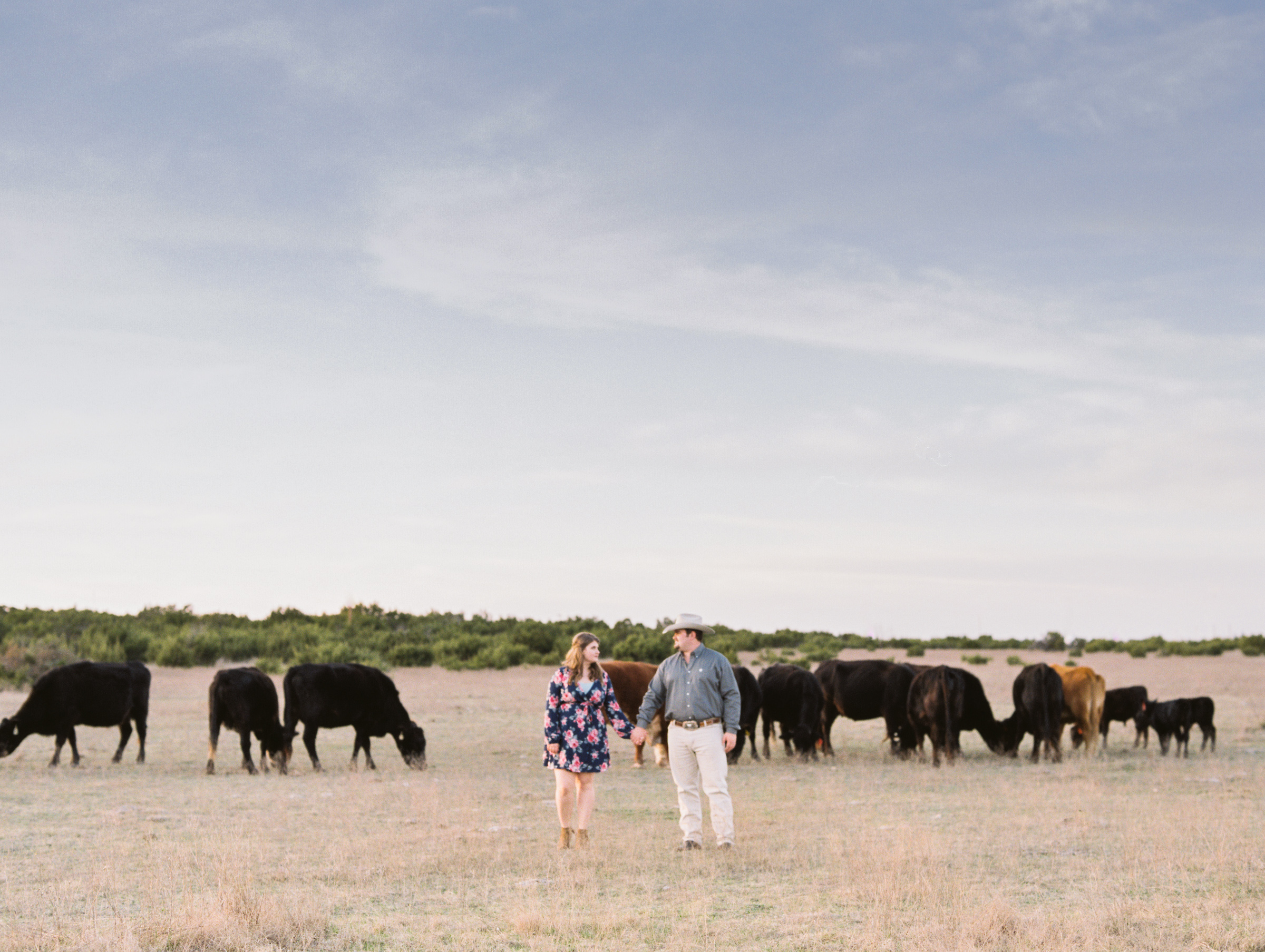 Kyle & Jamison | West Texas Engagement Session | Film Engagement Photos | britnidean.com