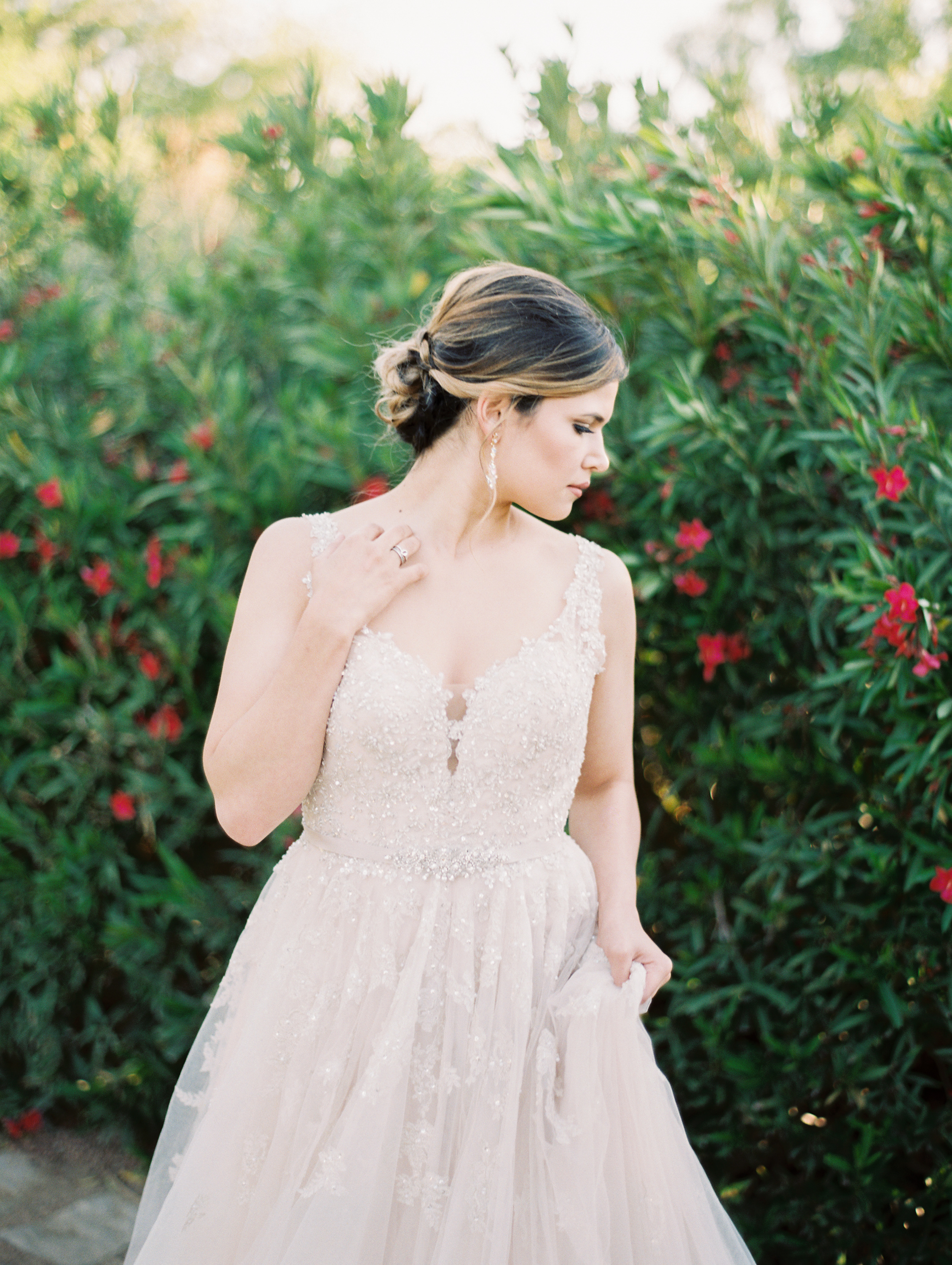 Summer Garden Bridal Session on Film | Summer Bridal Bouquet | Summer Wedding Inspiration | Britni Dean Photography - Texas Wedding Photographer