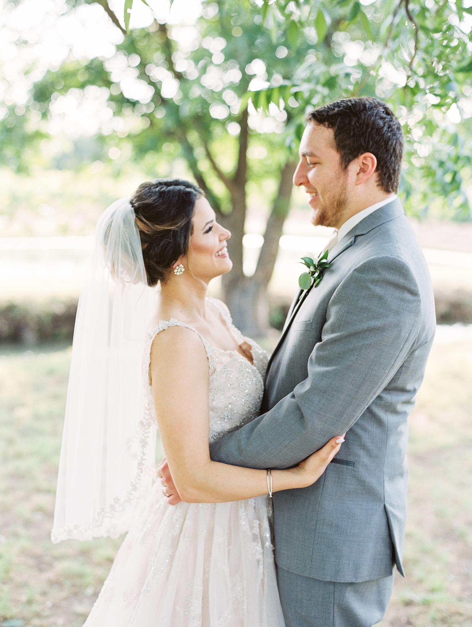 Elegant Spring Vineyard Wedding | Film Wedding Photographer | Austin Wedding Photographer | Bride and Groom Portrait | Britni Dean Photography // britnidean.com