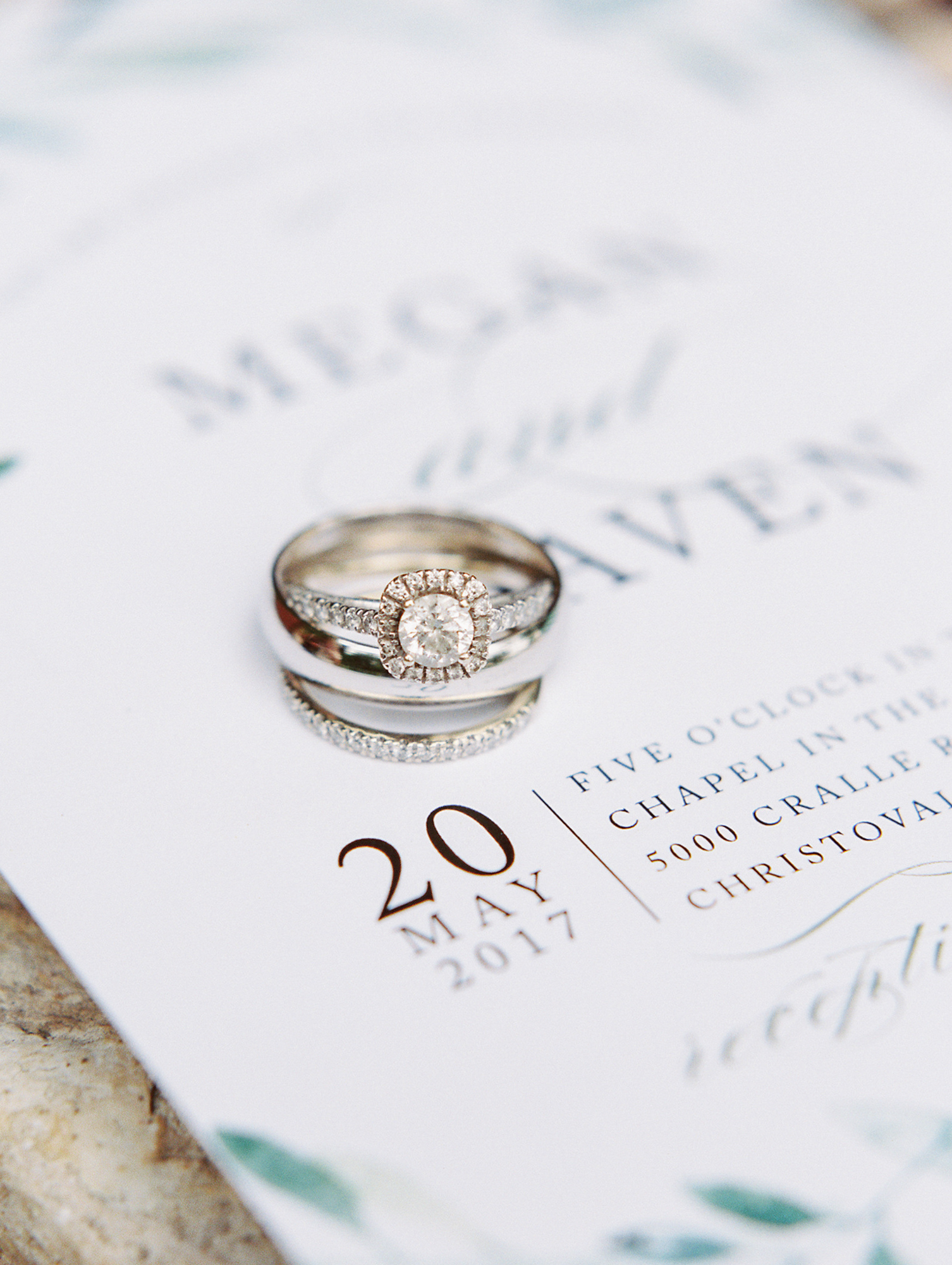 Elegant Spring Vineyard Wedding | Film Wedding Photographer | Austin Wedding Photographer | Stunning Round Engagement Ring | Britni Dean Photography // britnidean.com