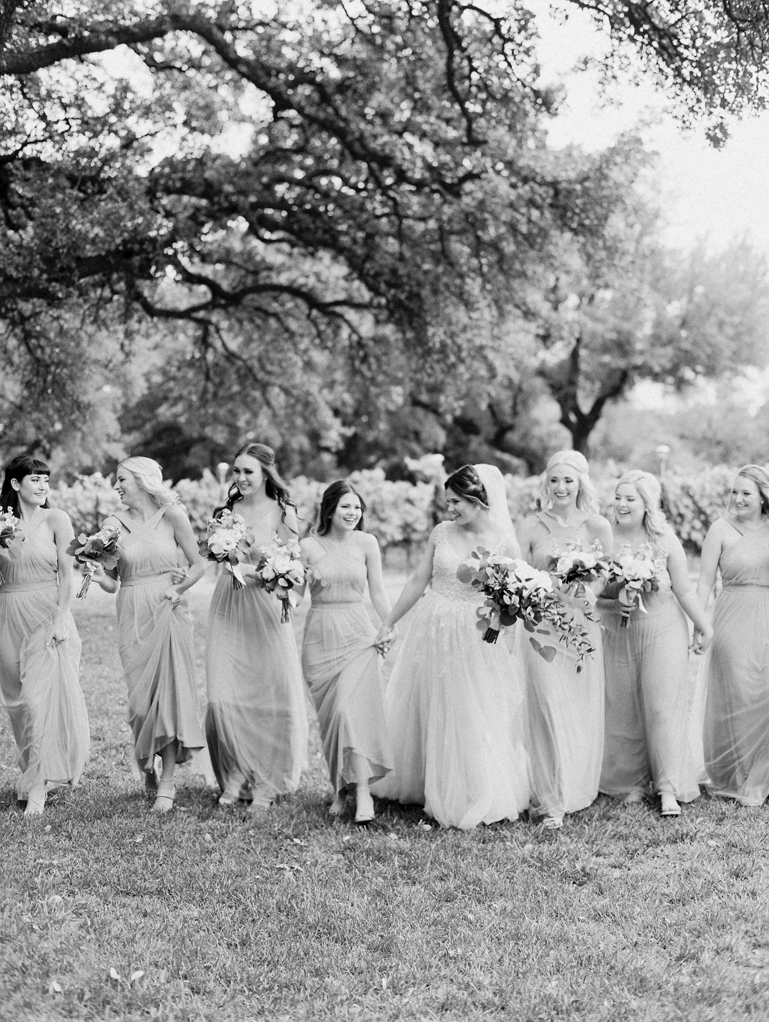 Elegant Spring Vineyard Wedding | Film Wedding Photographer | Austin Wedding Photographer | Romantic Bridesmaid Dresses | Britni Dean Photography // britnidean.com