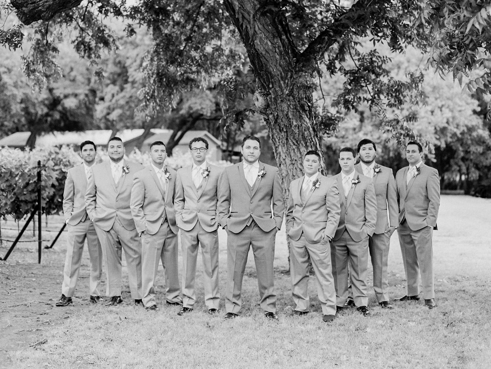 Elegant Spring Vineyard Wedding | Film Wedding Photographer | Austin Wedding Photographer | Groomsmen Photos | Britni Dean Photography // britnidean.com