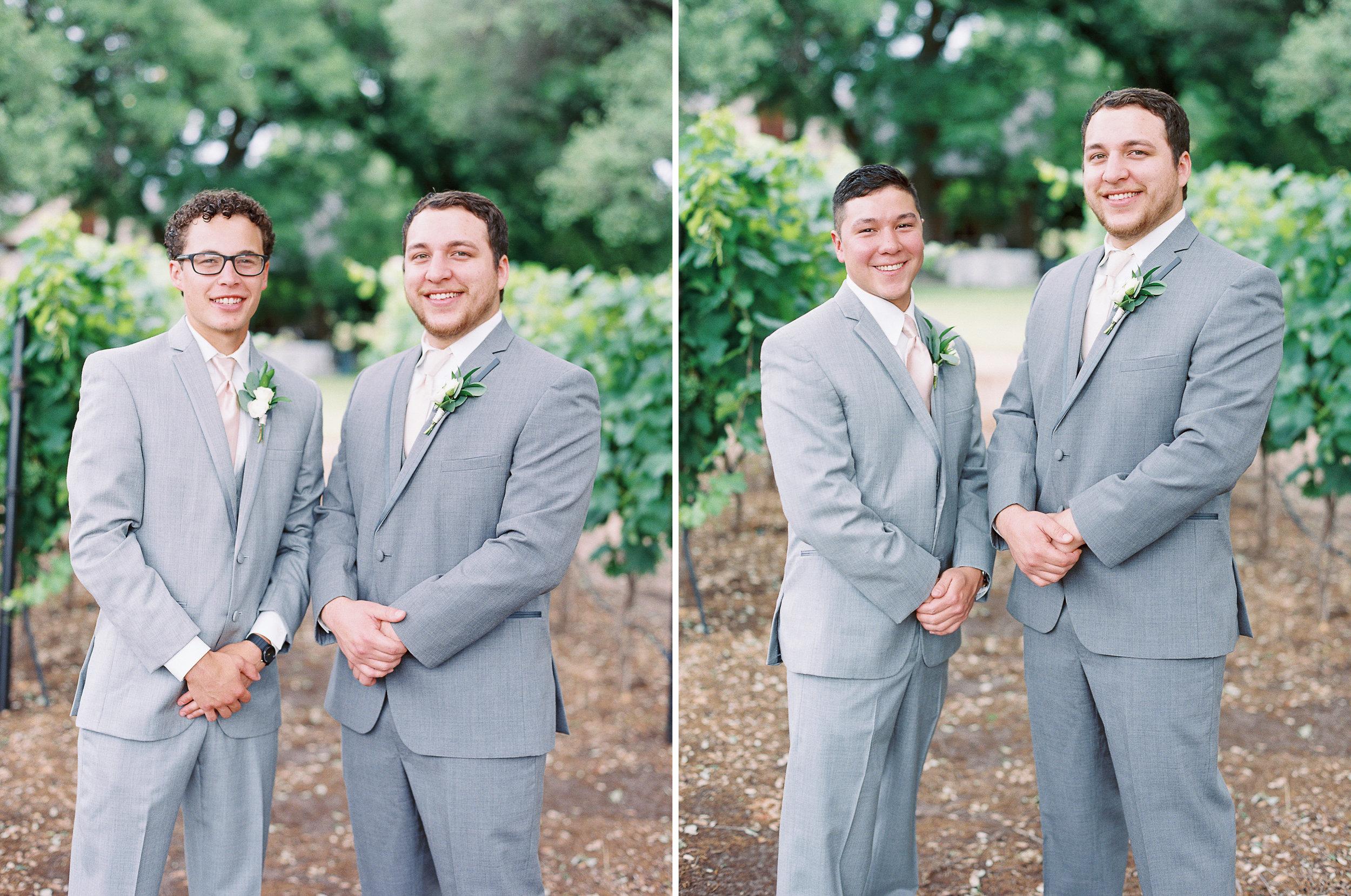 Elegant Spring Vineyard Wedding | Film Wedding Photographer | Austin Wedding Photographer | Groom and His Best Men | Britni Dean Photography // britnidean.com