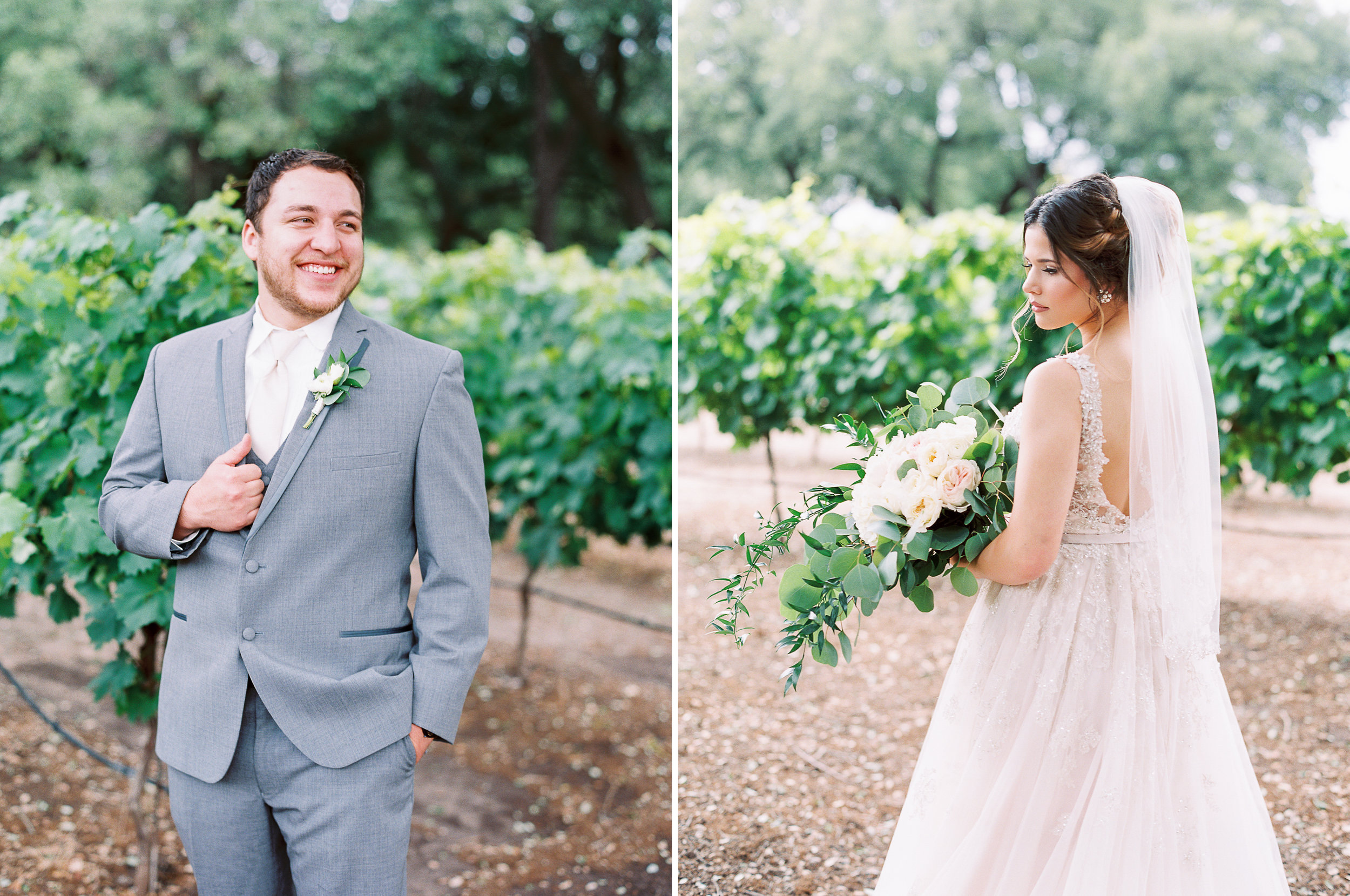 Elegant Spring Vineyard Wedding | Film Wedding Photographer | Austin Wedding Photographer | Beautiful Bride and Groom Photos | Britni Dean Photography // britnidean.com