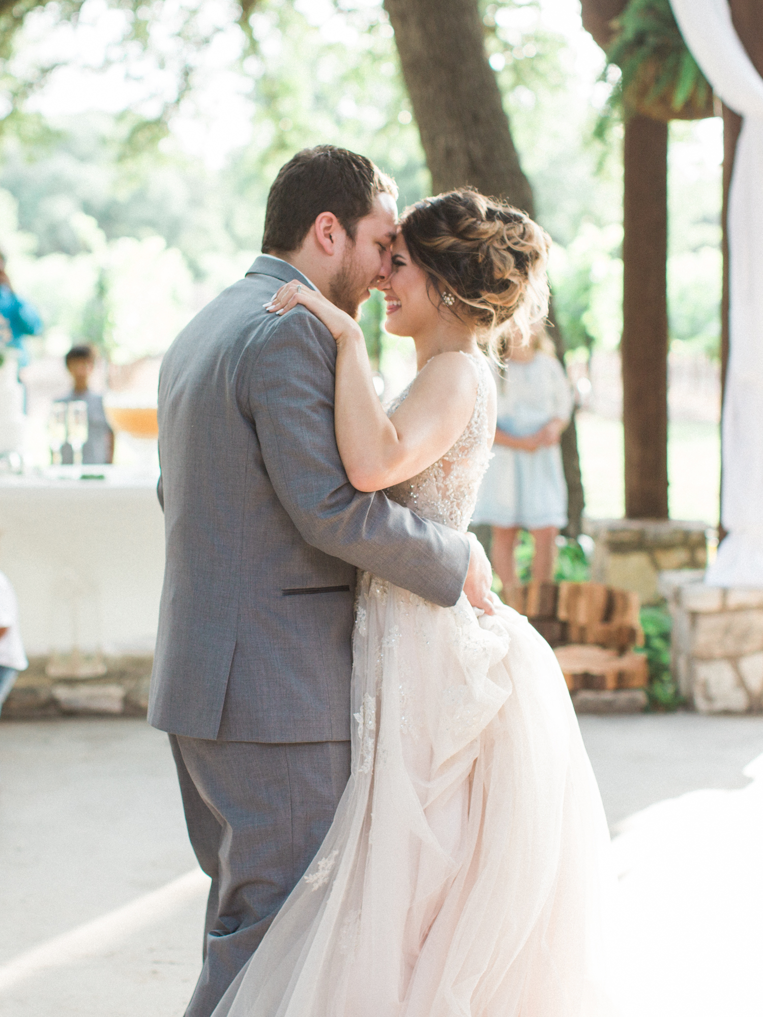 Elegant Spring Vineyard Wedding | Film Wedding Photographer | Austin Wedding Photographer | Bride and Groom Sweet First Dance | Britni Dean Photography // britnidean.com