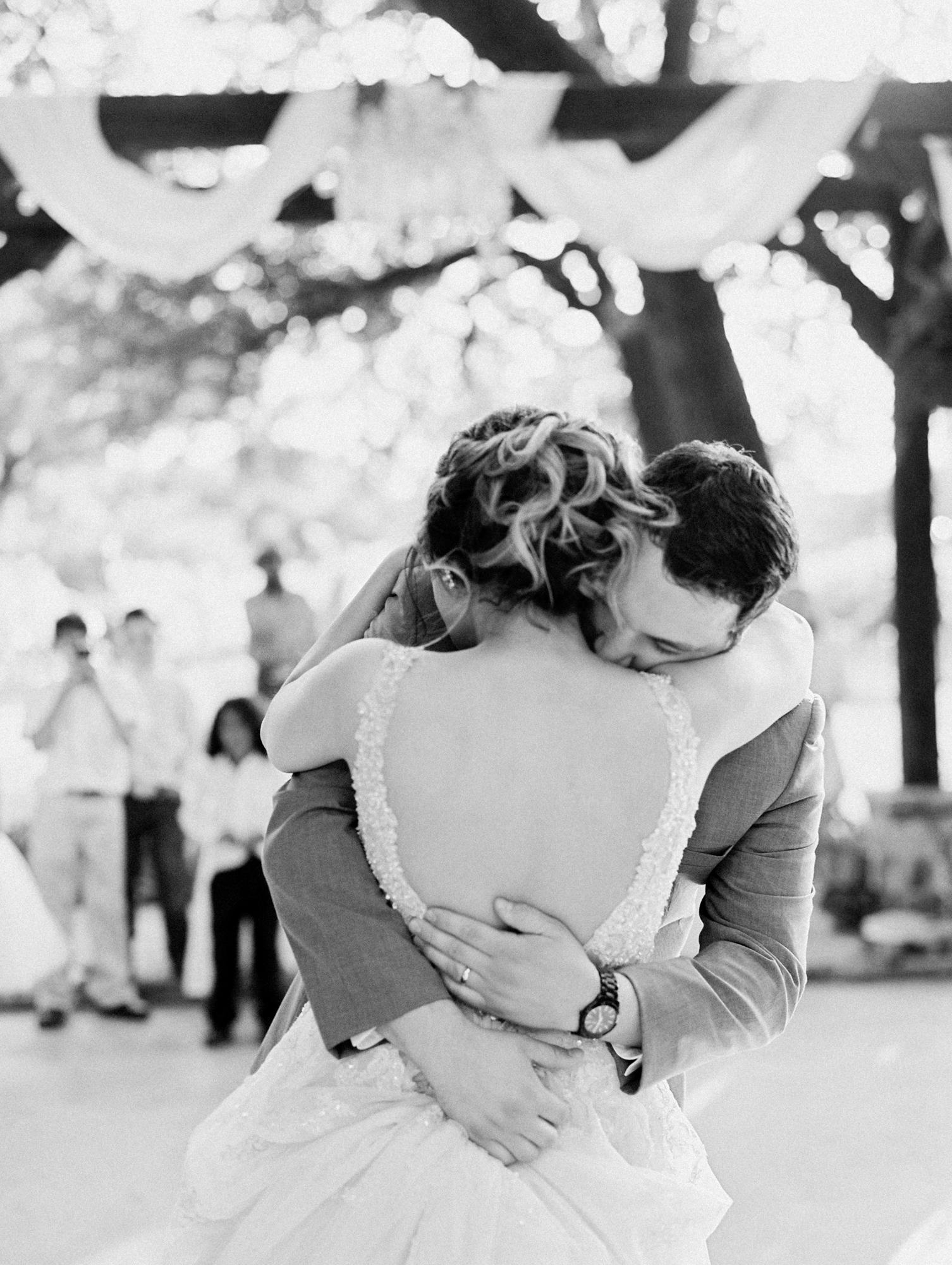 Elegant Spring Vineyard Wedding | Film Wedding Photographer | Austin Wedding Photographer | Bride and Groom Sweet First Dance | Britni Dean Photography // britnidean.com
