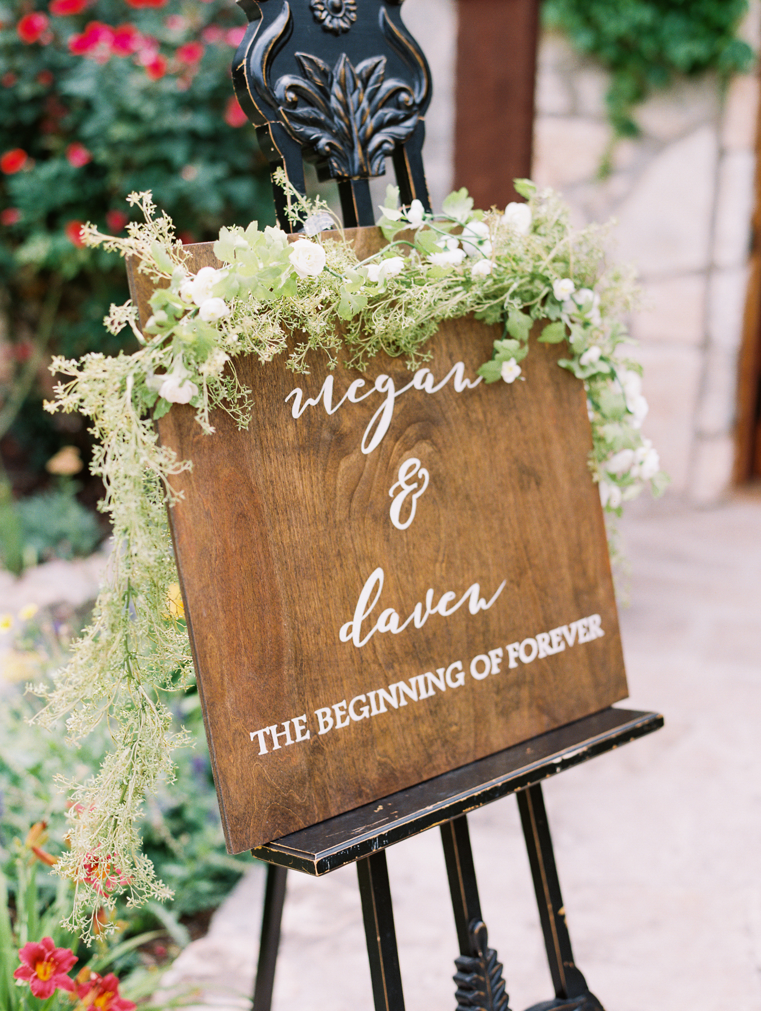 Elegant Spring Vineyard Wedding | Film Wedding Photographer | Austin Wedding Photographer | Lovely Wedding Sign | Britni Dean Photography // britnidean.com