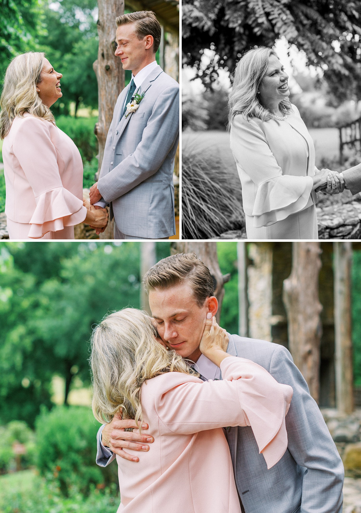 Groom and Mom Special Moment | Summer Wedding Inspiration | Fort Worth Wedding Photographer | The Brooks at Weatherford