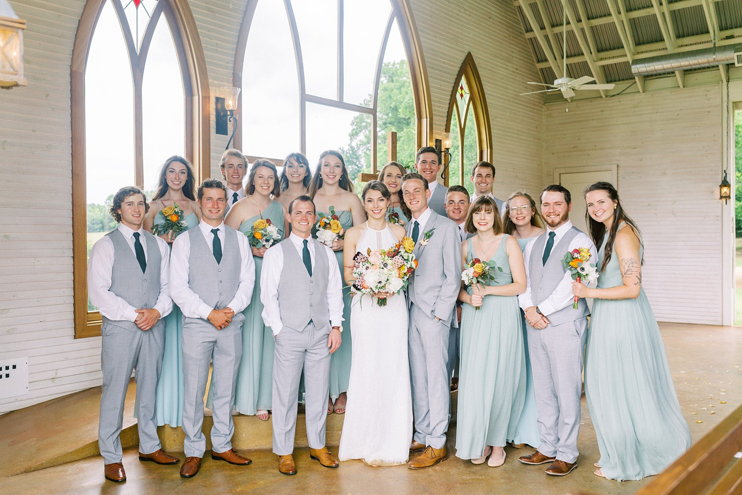 Wedding Party Photos | Intimate Wedding Ceremony | Summer Wedding Inspiration | Fort Worth Wedding Photographer | The Brooks at Weatherford