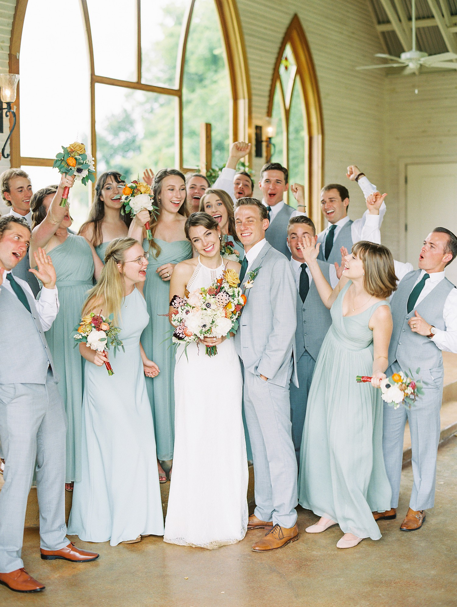 Wedding Party | Intimate Wedding Ceremony | Summer Wedding Inspiration | Fort Worth Wedding Photographer | The Brooks at Weatherford