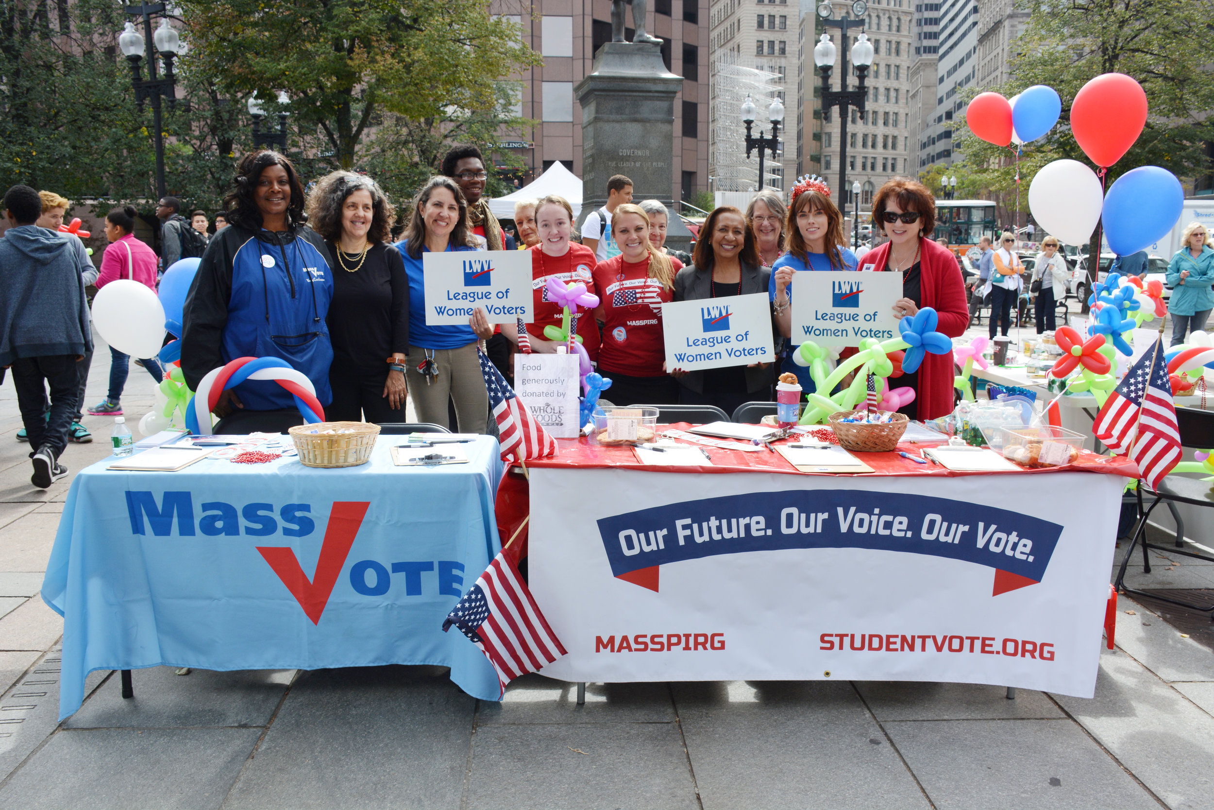 MassVOTE and MassPIRG jointly register voters.