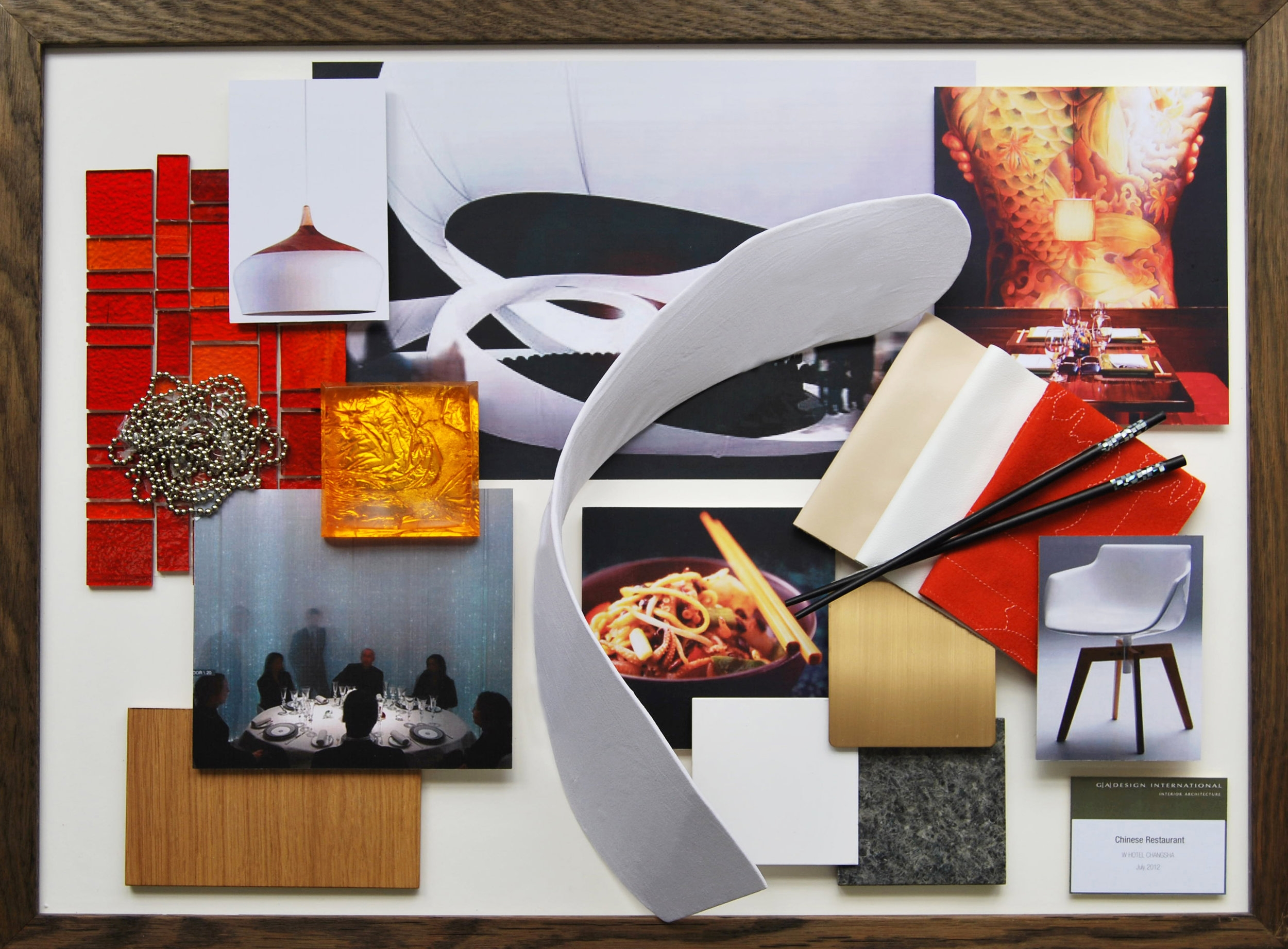 W Hotel Restaurant Design Mood Board
