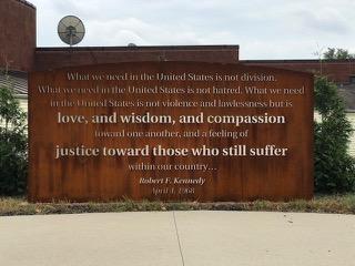 Outdoor steel panel RFK quote