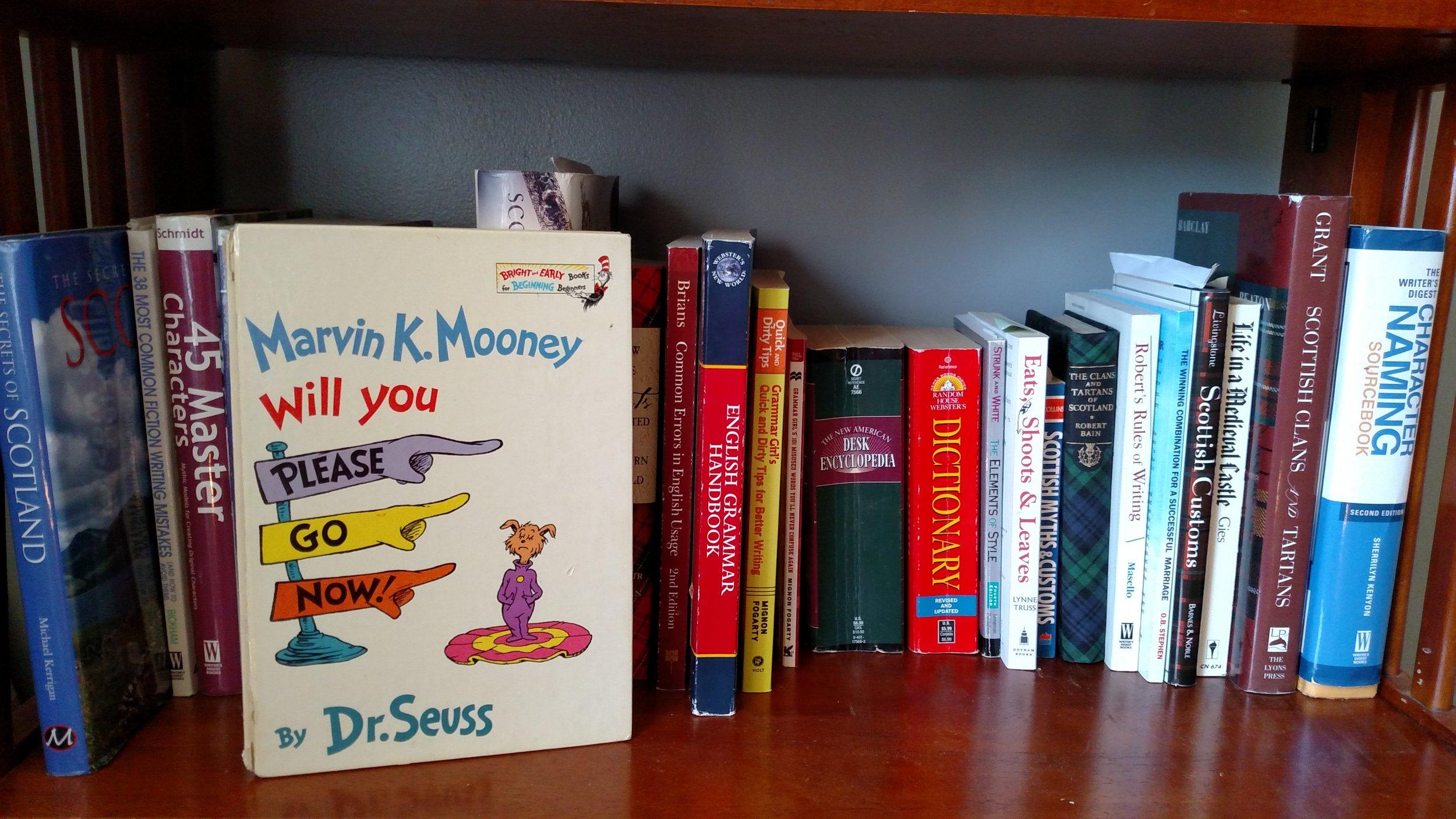 One of my many bookshelves.