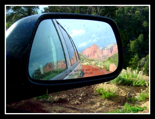 Sometimes it's okay to look behind you and remember the roads you've already traveled.