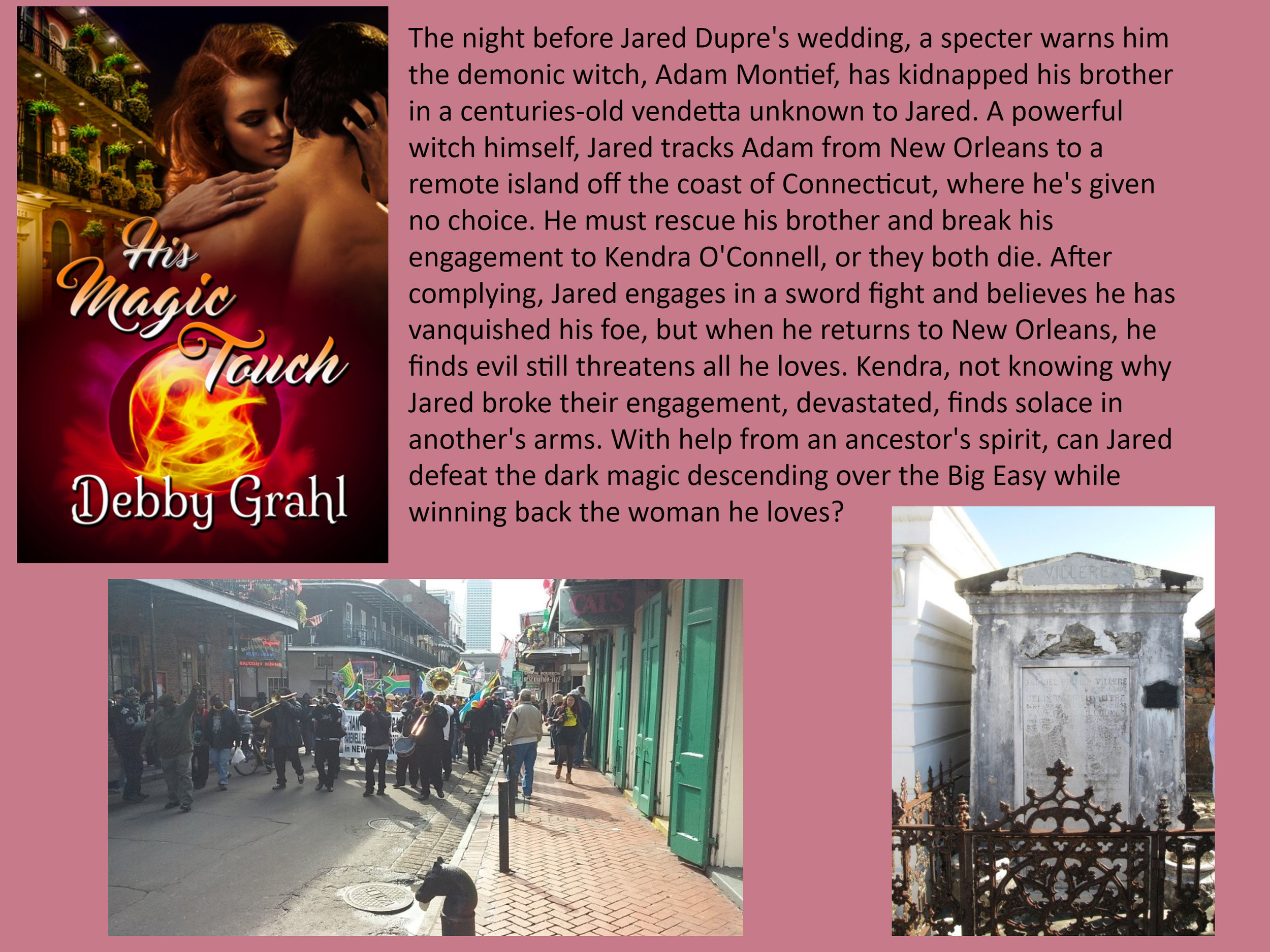His Magic Touch can be found at:  Amazon  and  The Wild Rose Press .