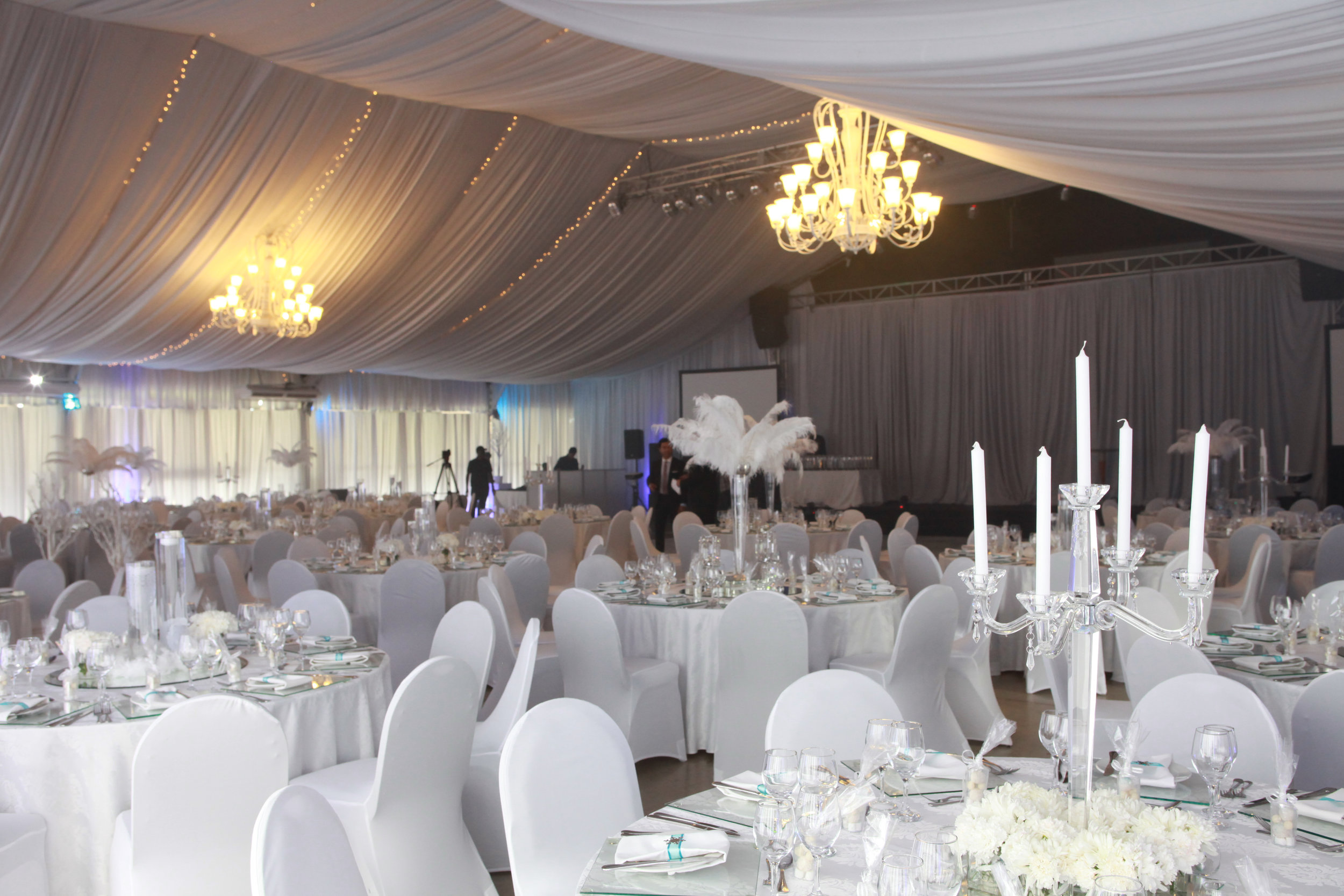 A picture from one of the events Charlene coordinated the decor for as an event planner.