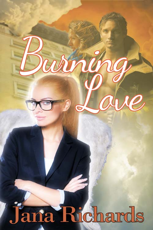 Burning Love… - After causing three cooking fires in her apartment, Iris Jensen finds herself evicted and homeless. She lands on Riley Benson's doorstep, looking to rent a room in the beautiful old home he's restoring. It's only for six weeks until Iris leaves Portland, Oregon for her new job on a cruise ship. Firefighter Riley knows firsthand what a bad tenant she can be. But he needs money to finish the work on the house he loves. And something about Iris pulls at his heart…Meanwhile, in Heaven, two angels watch over the young lovers. Angelica and Hildegard work in Heaven's Relationship Division, where angels match mortals with their soul mates. The angels believe so strongly in Iris and Riley's love that they break Heaven's rules to help them. Can the angels convince them their love will last a lifetime?