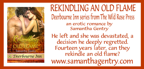 Rekindling An Old Flame  is available in ebook at:  Amazon ,  Barnes and Noble , and other online vendors