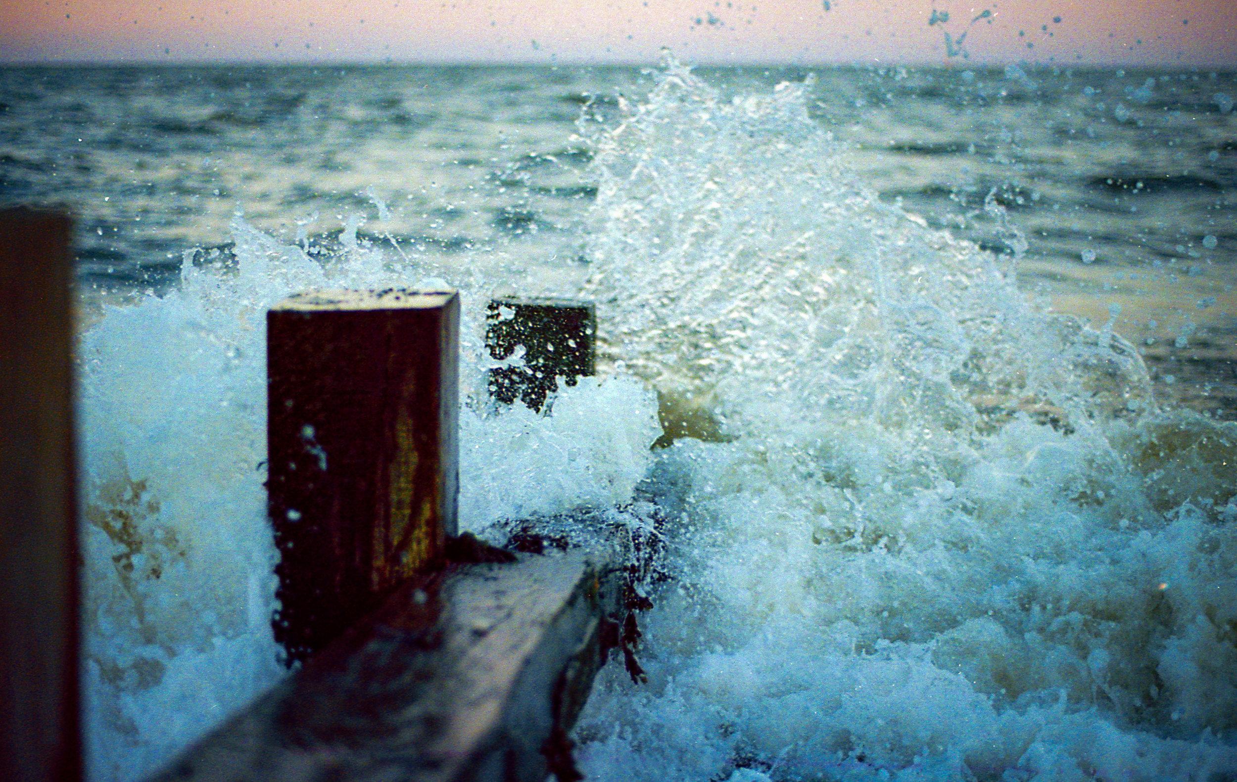 Wave Breaking, 35mm film, 2018