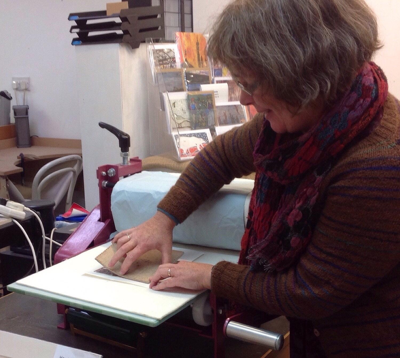 Printing Press for Linocut Printing