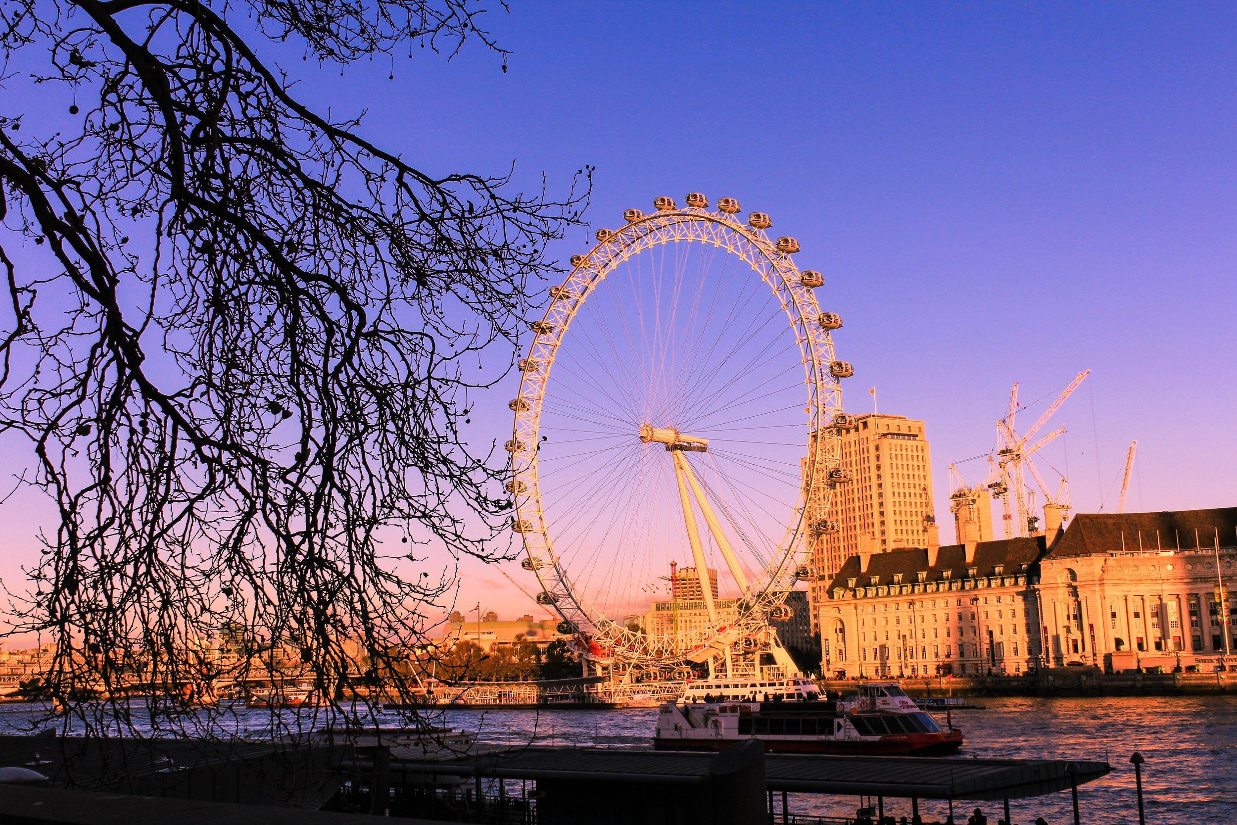 Autumn skies in London