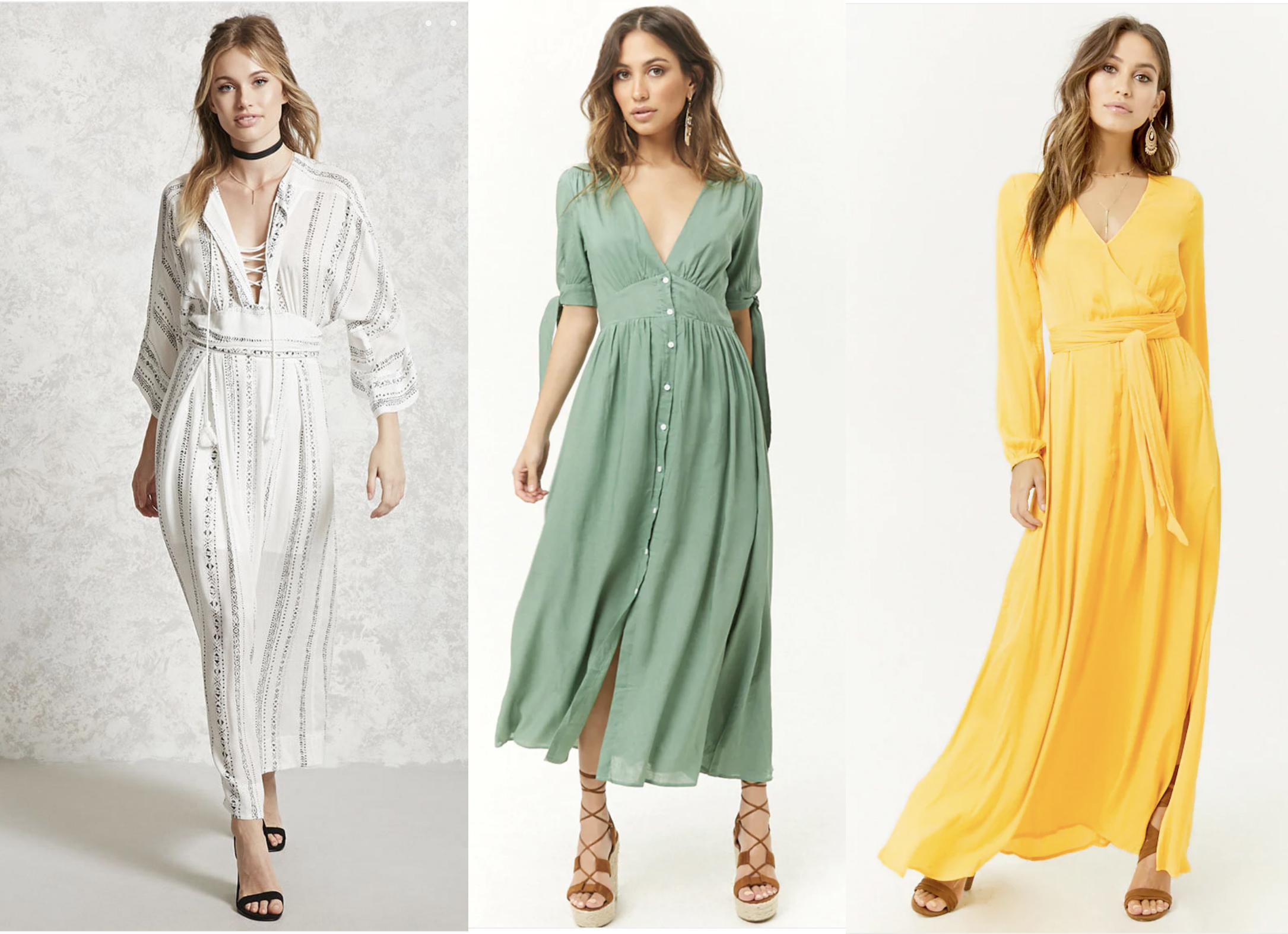 Forever 21 - I know, this might be a shocking suggestion….but they have some really cute maxi dresses right now!