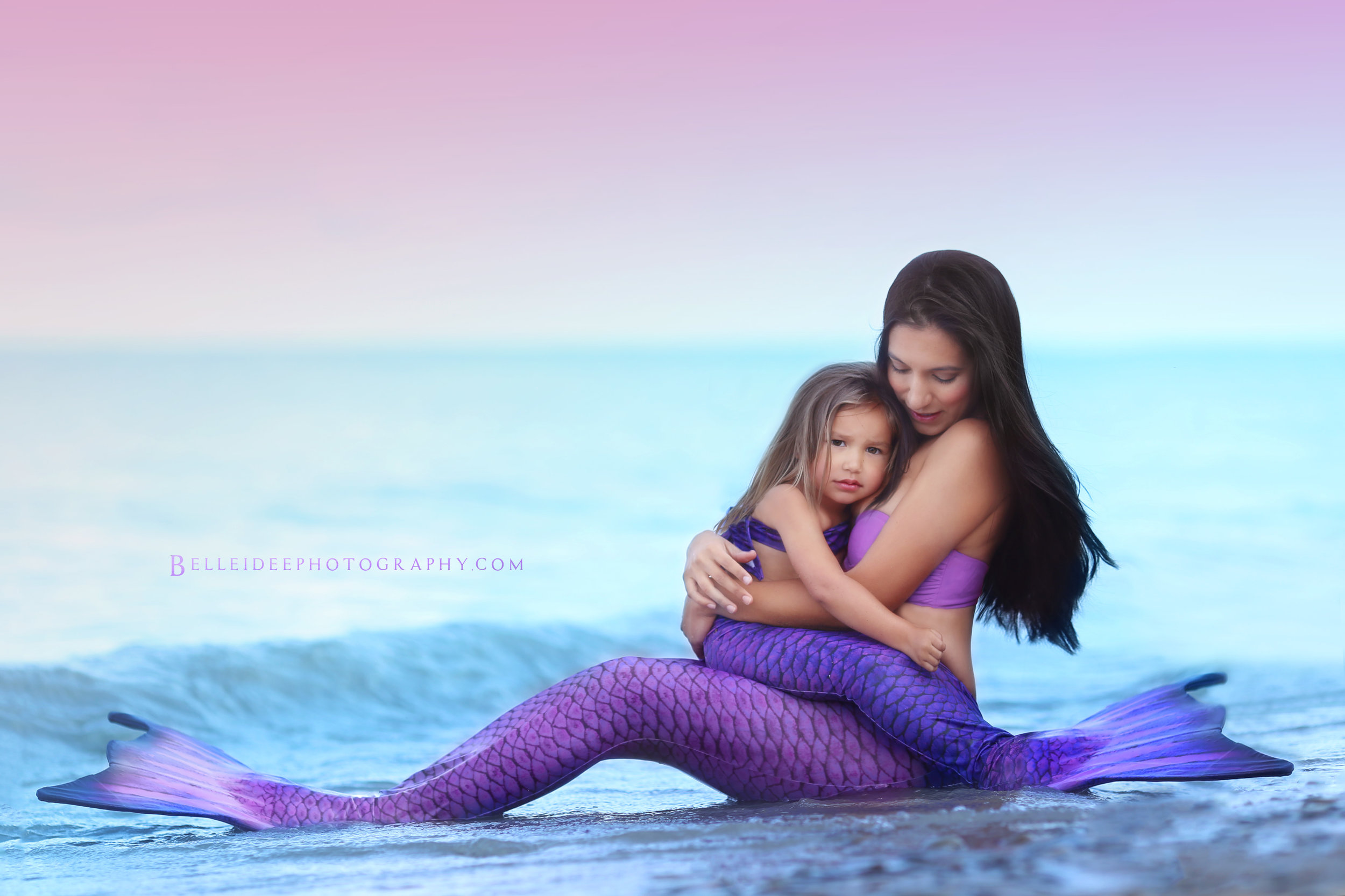 Mother and daughter mermaid sessions in buffalo, ny