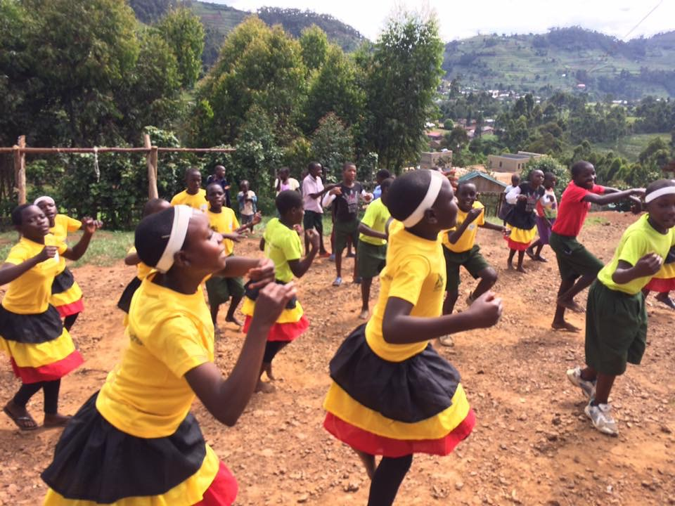 Our Seeds of Hope Children performing for one of our sponsor families.