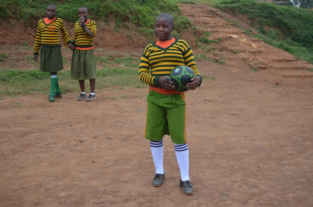 Ainembabazi Grace loves to play net ball.